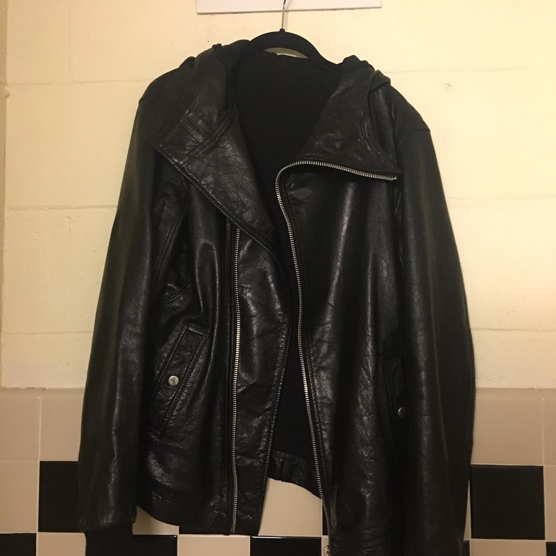 rick owens leather jacket size l leather jackets for sale grailed. Black Bedroom Furniture Sets. Home Design Ideas