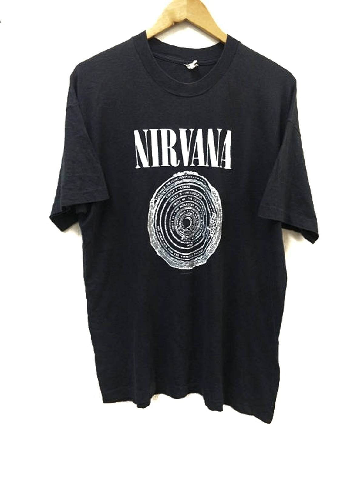 RARE Vintage 1992 Nirvana Original Tour T Shirt Smiley Face SAMbA