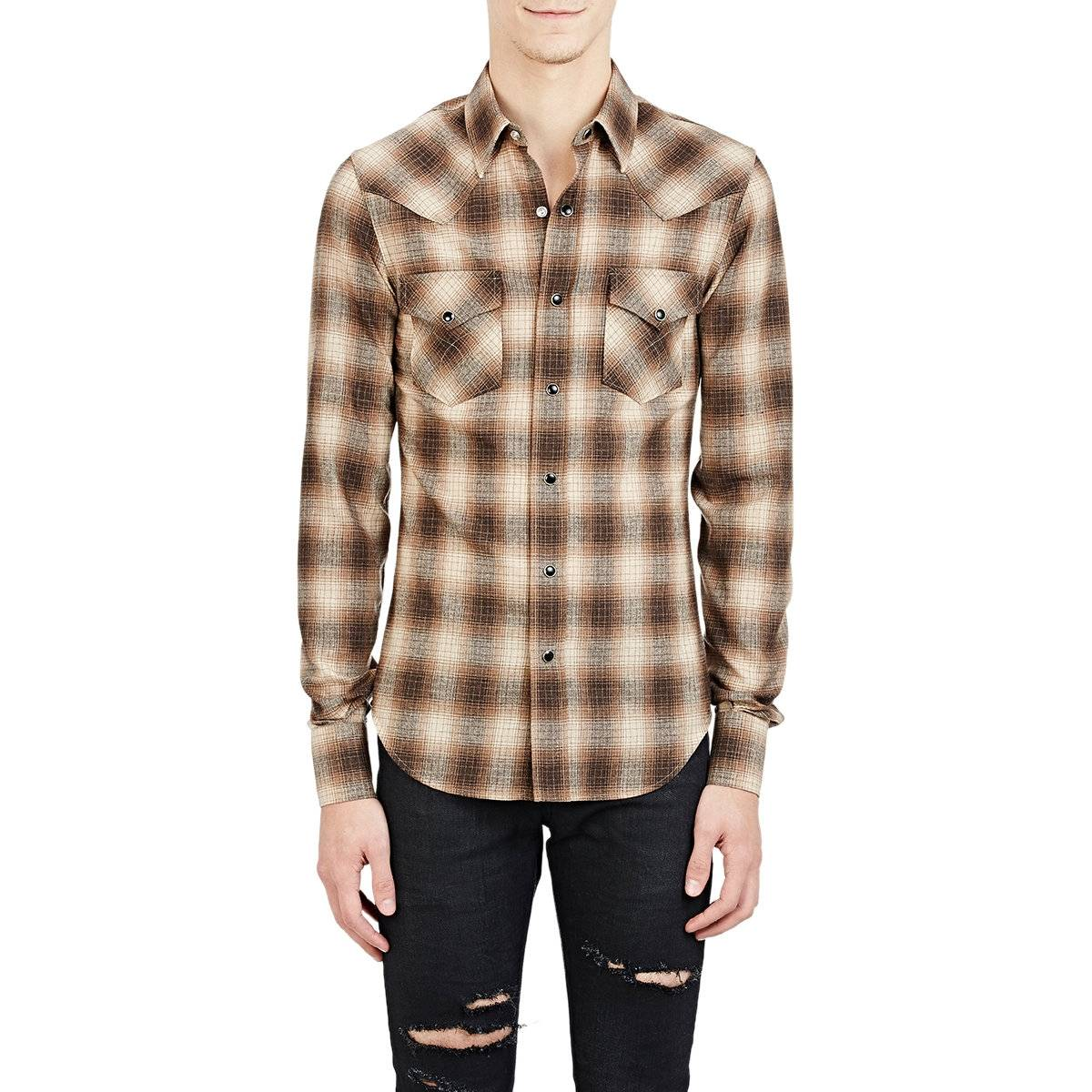 Saint laurent paris fw15 saint laurent western shirt size for Saint laurent paris t shirt