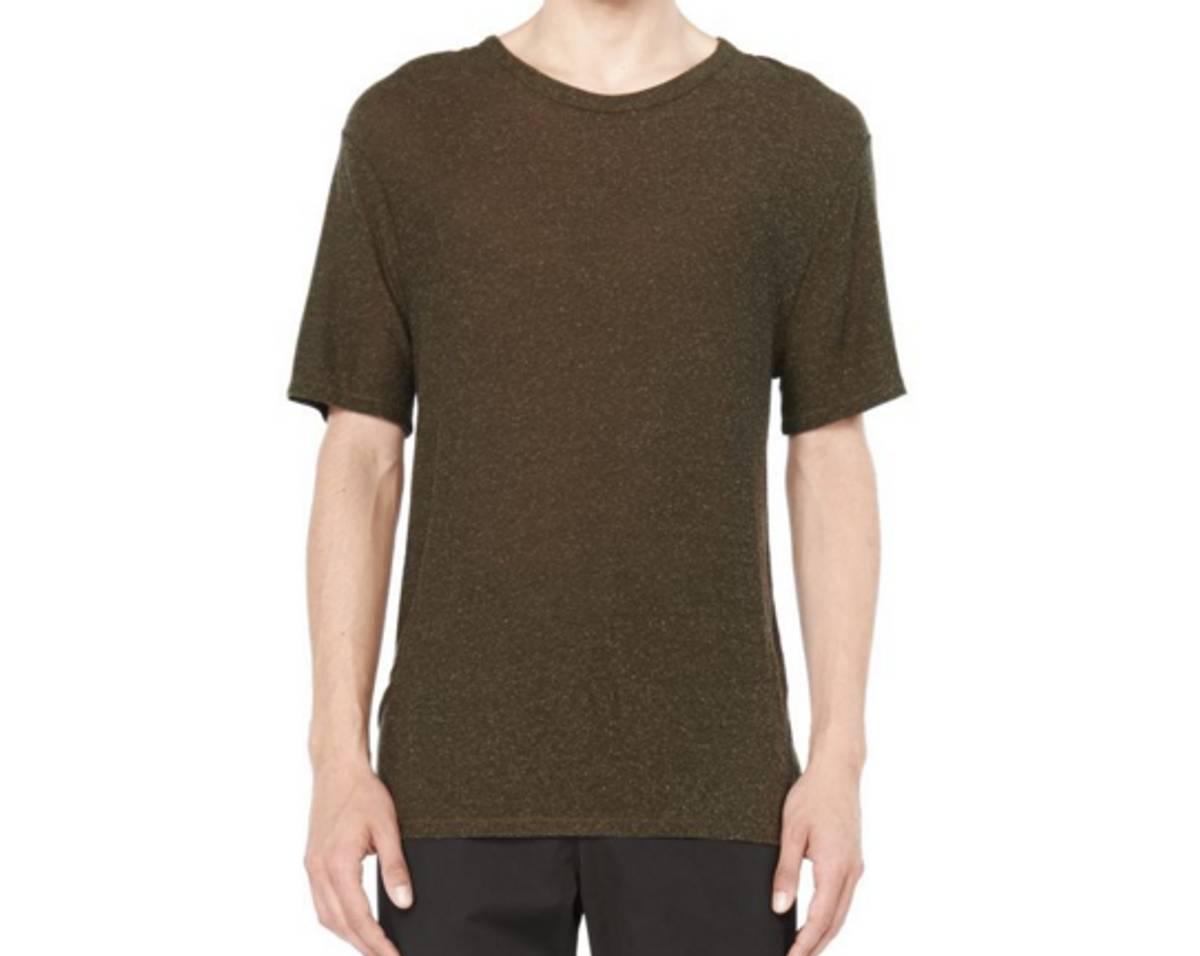 Alexander Wang Slub Rayon Silk Tee New Size Xl Short