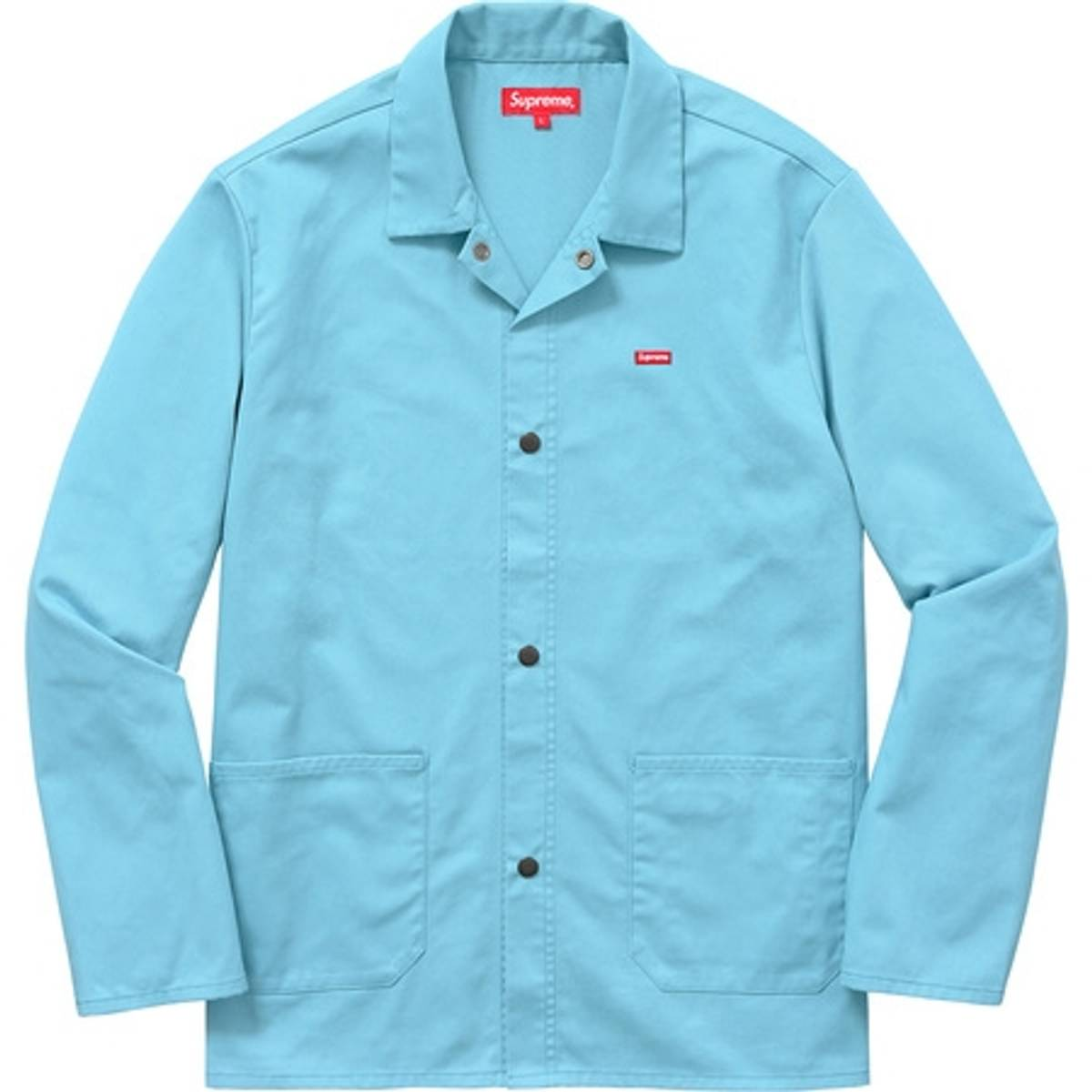 Supreme Shop Jacket Baby Blue Size M Light Jackets For Sale Grailed
