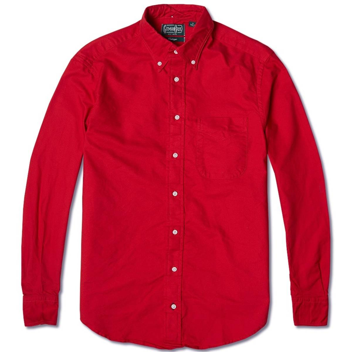 Gitman Bros Vintage Overdyed Red Oxford Shirt Size M