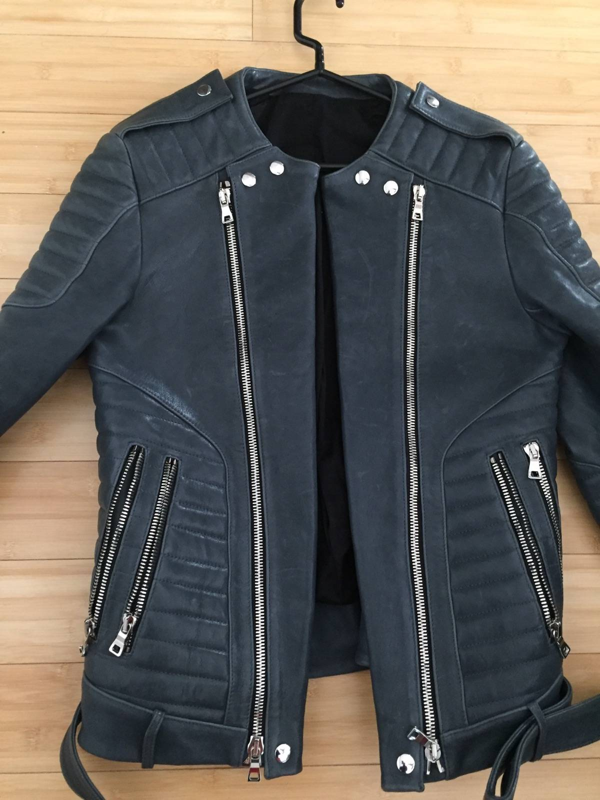 leather rugged love studded jacket preach yourself black biker rug products