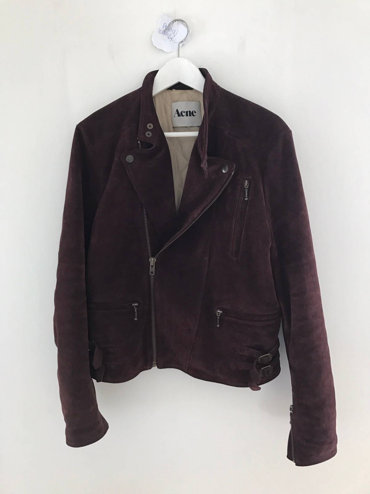 acne studios blue suede biker jacket size m leather jackets for sale grailed. Black Bedroom Furniture Sets. Home Design Ideas