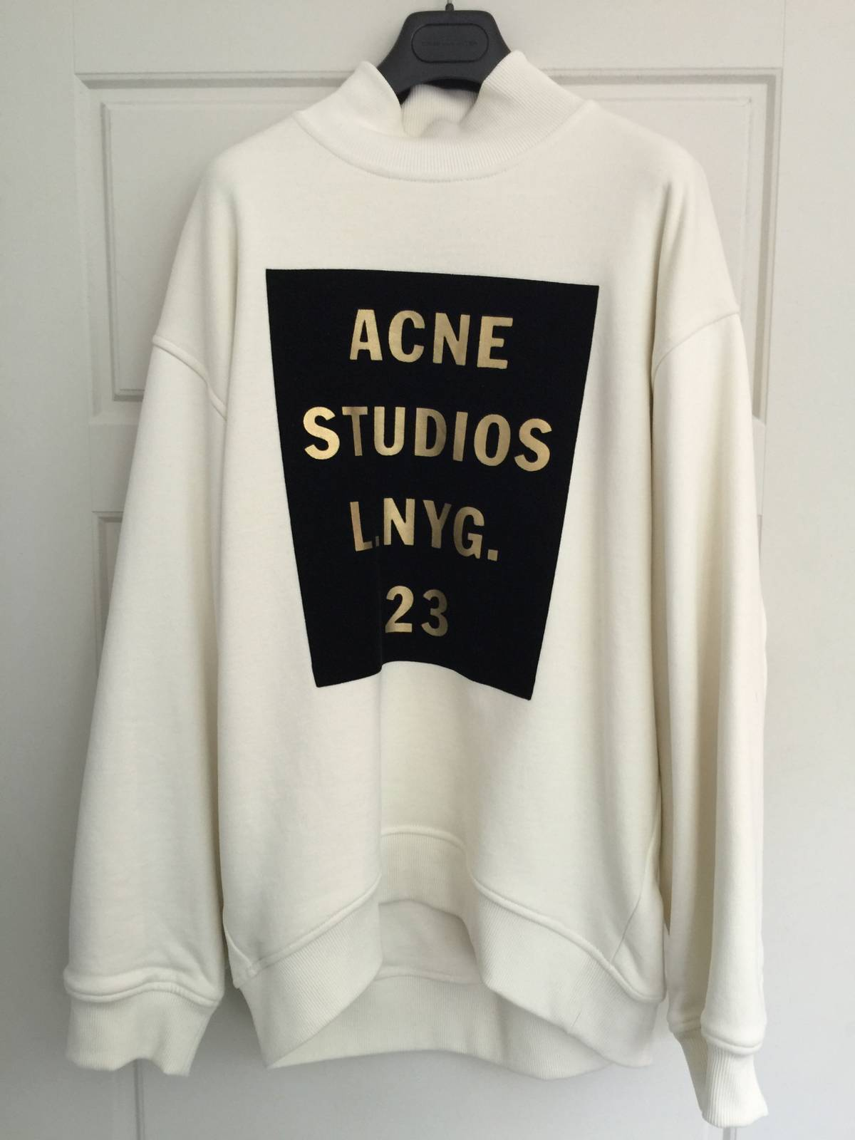 acne studios acne logo sweater size s sweaters knitwear for sale grailed. Black Bedroom Furniture Sets. Home Design Ideas