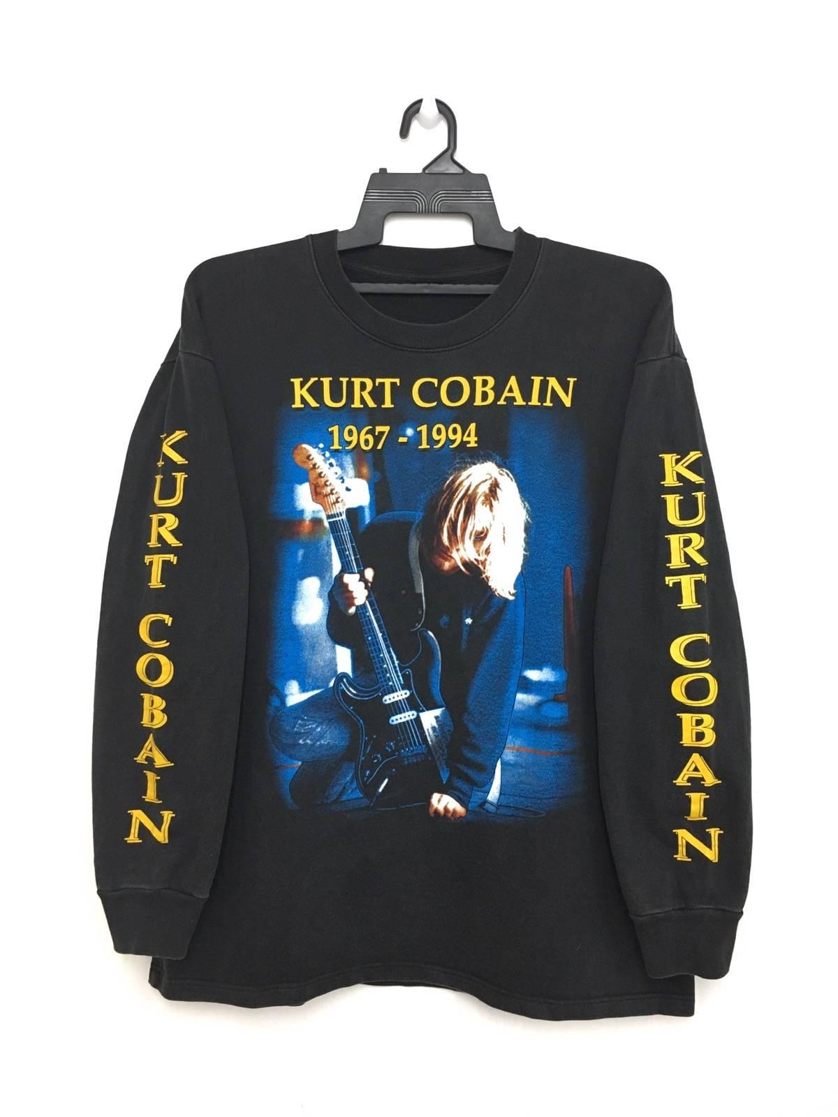 Kurt cobain grailed kurt cobain rare vintage 90s nirvana long sleeve shirt bootleg kurt cobain in memory black color gumiabroncs Images