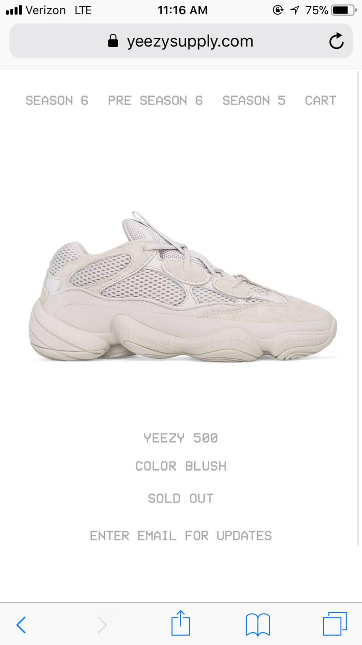 CONFIRMED Adidas Yeezy 500 Blush Size 11