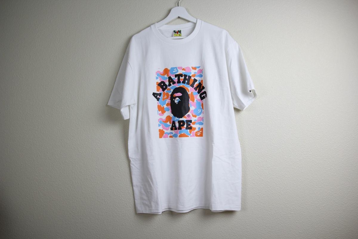 Bape bape shirt size xxl short sleeve t shirts for sale for Bape t shirt sizing