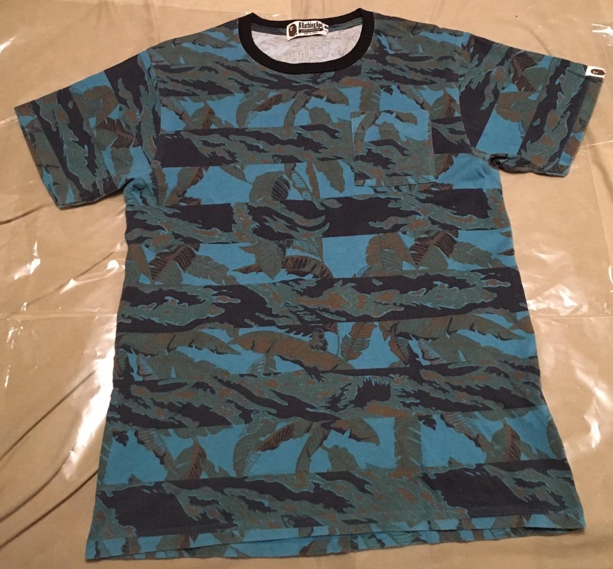 Bape bape camo tee size m short sleeve t shirts for sale for Bape t shirt sizing
