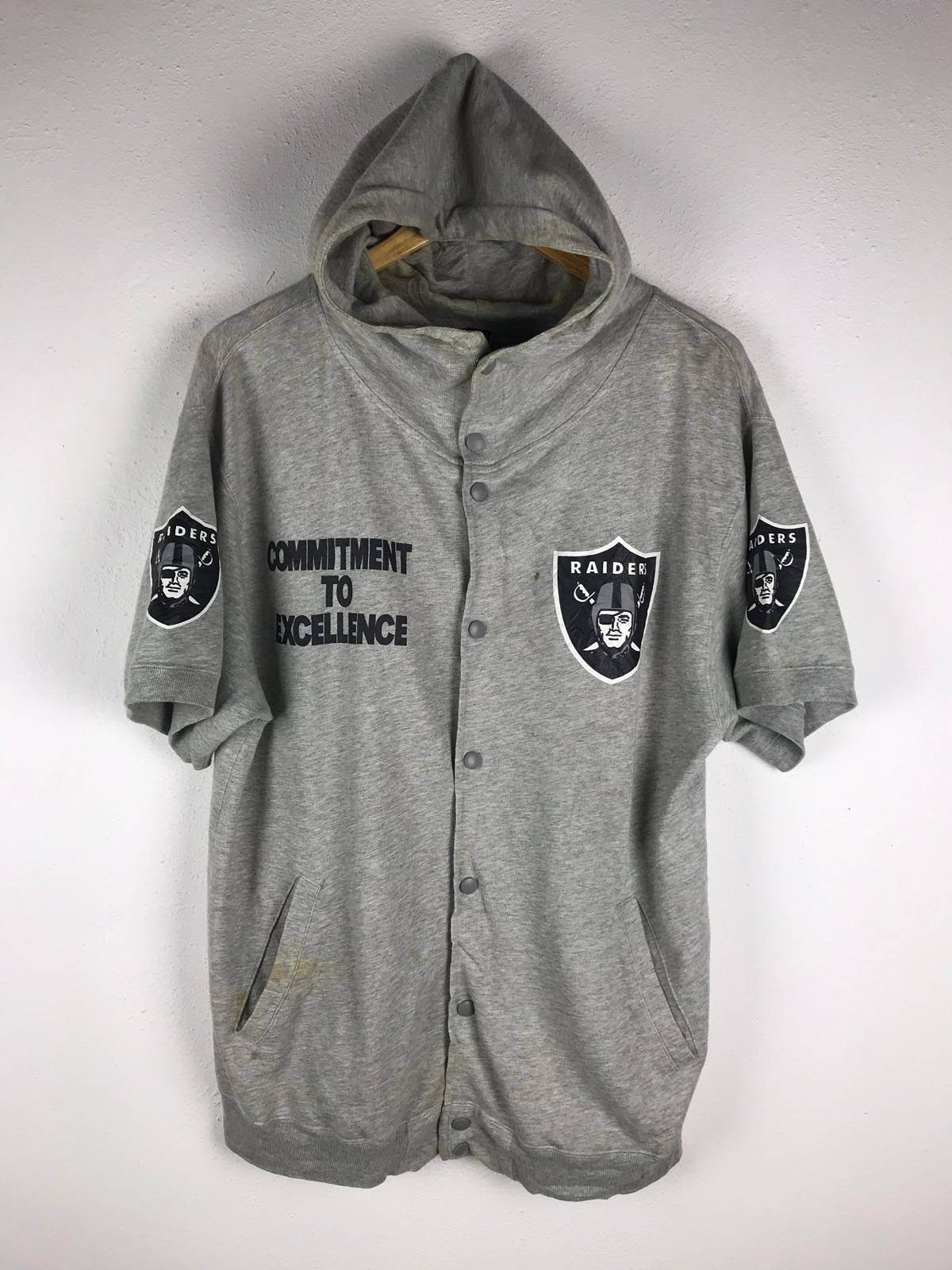 841daf97fbd Nfl × Oakland Raiders × Vintage Oakland Raiders Hoodies Short Sleeve  Sweatshirts Vintage Officially Licensed Products By Goldwin Size M $83