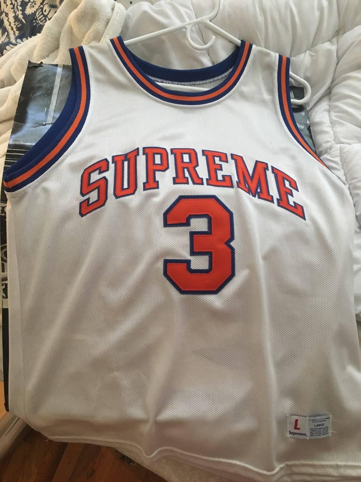 info for 740c2 694dd Supreme × Vintage Og Rare Supreme John Starks #3 New York Knicks Home  Jersey Size L $259