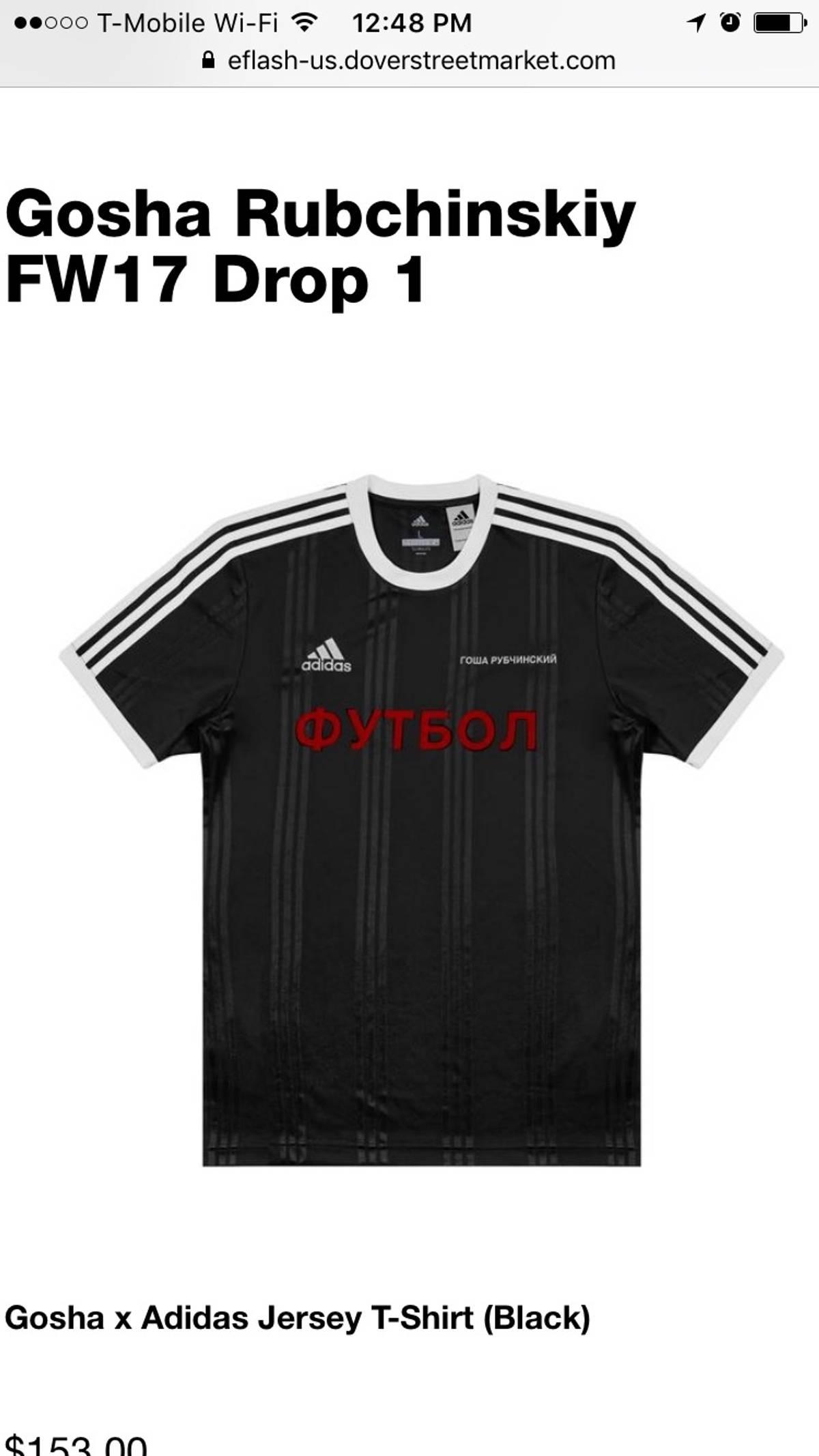 d910441ead4 Adidas × Gosha Rubchinskiy ×. Adidas Gosha Rubchinskiy Soccer Jersey T Shirt  Short Sleeve Black ...