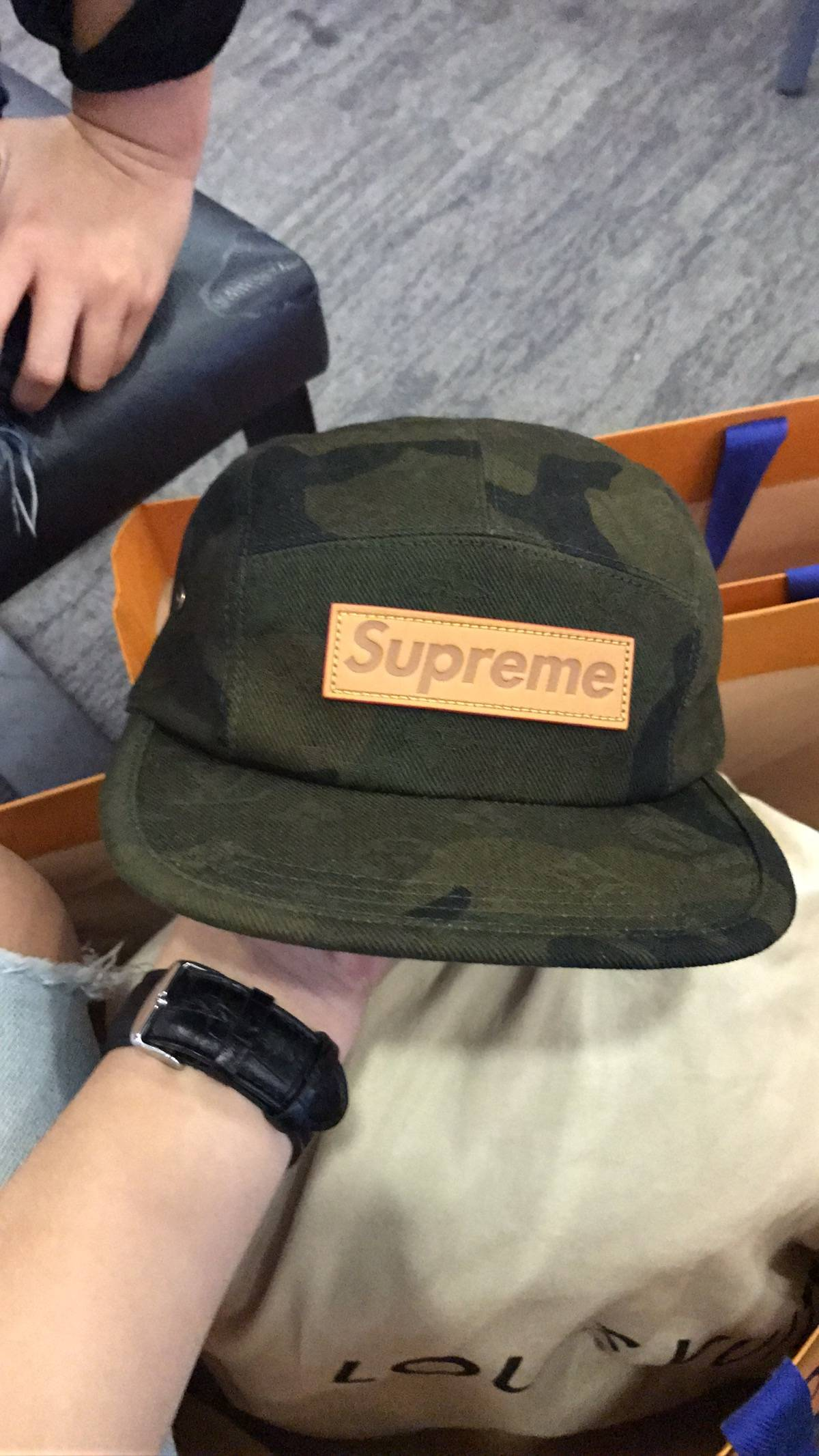 Supreme Supreme x LV Camo Camp Cap Size one size - Hats for Sale ... 63b44a802025