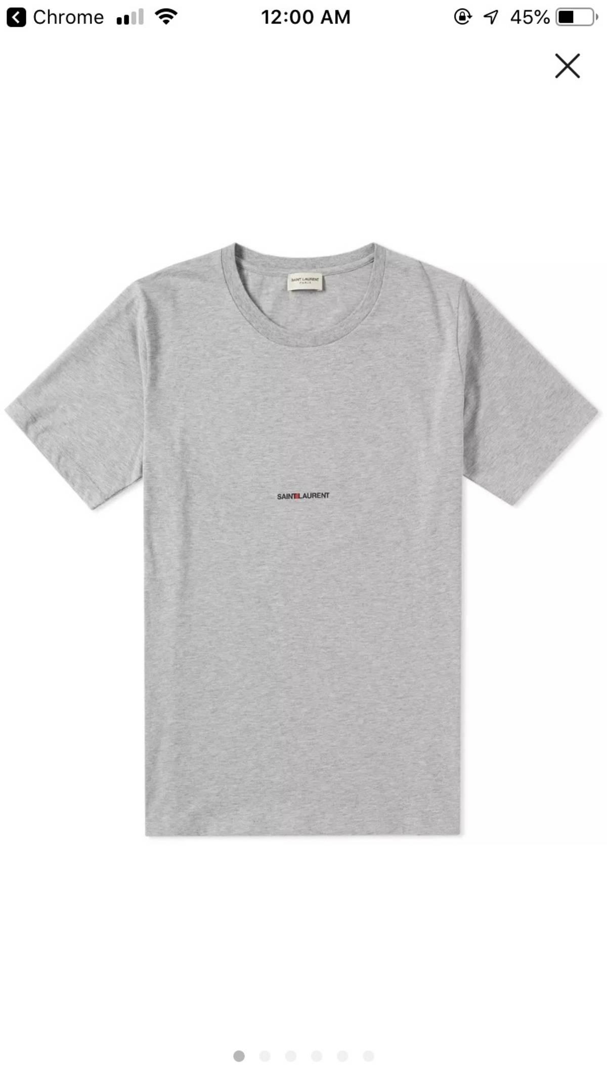 3a2b94dca83 Yves Saint Laurent Nwt Archive Logo T-shirt Grey Ysl Tee | Grailed