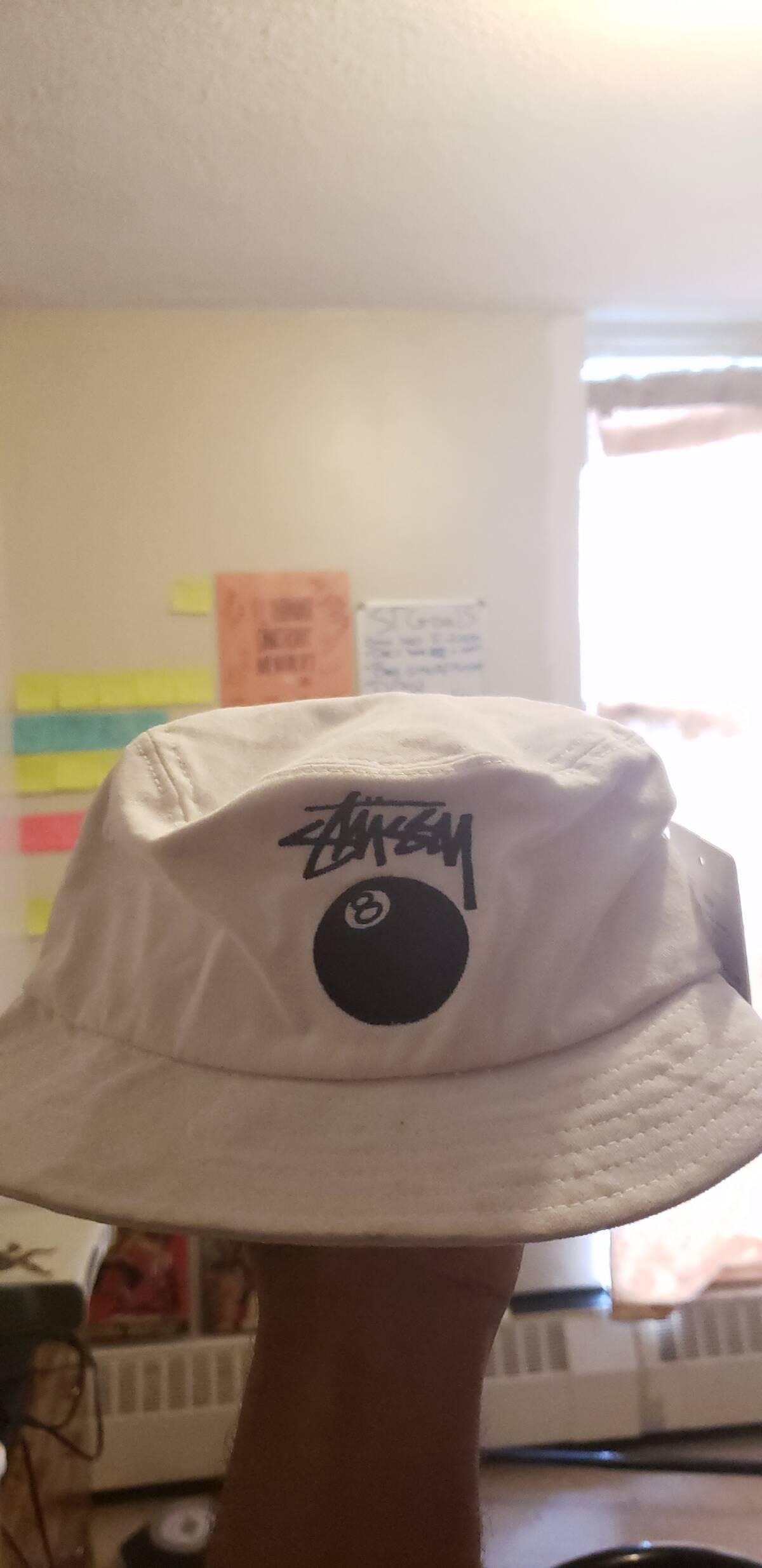 b0f91b1f7ca Stussy ×. Stussy 8 ball bucket hat white
