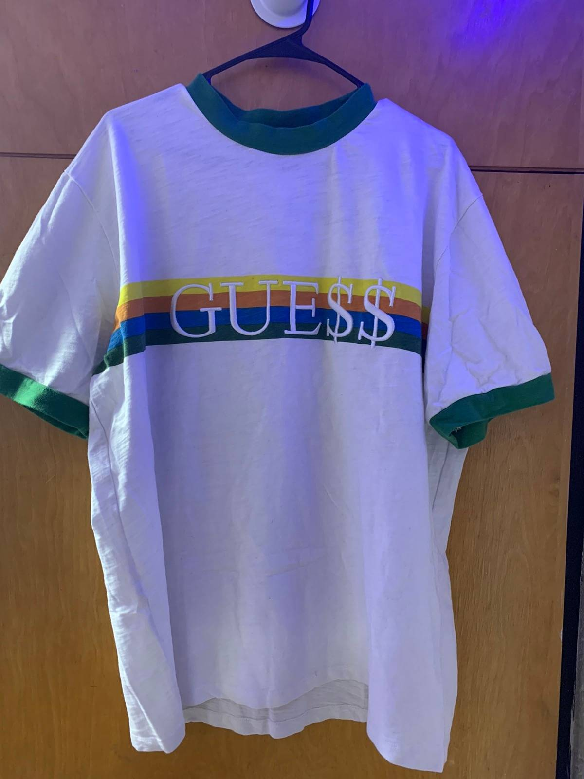 Asap Rocky × Guess Guess Originals X Asap Rocky Green Ringer T Shirt Size L $67