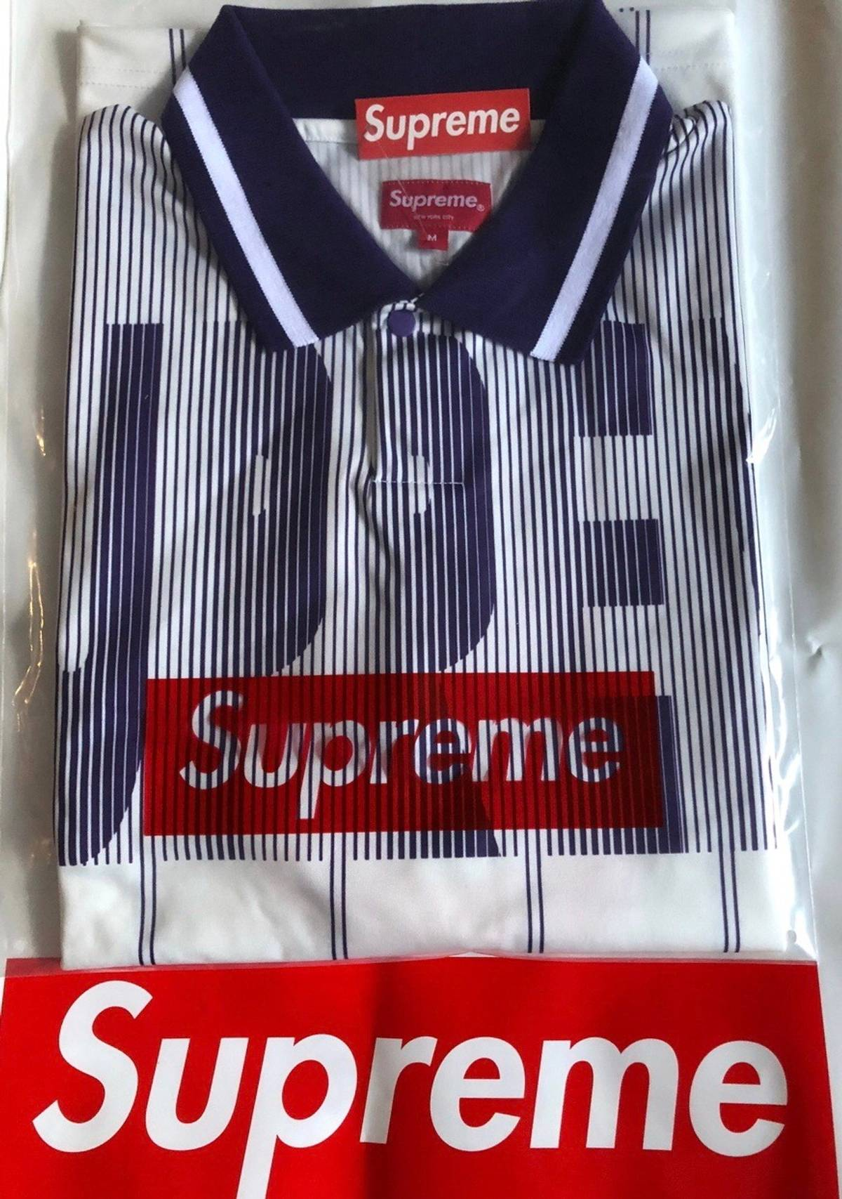 Supreme Supreme Soccer Polo Jersey Whitepurple M In Hand Ready To