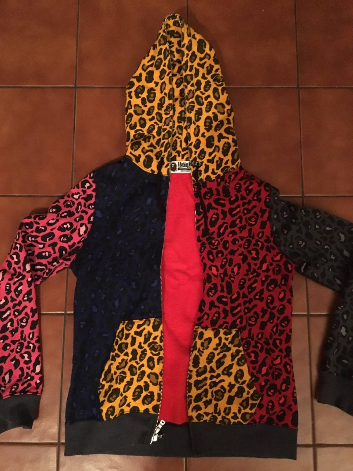 78d0a2e498e79 Bape Leopard Camo Print Full Zip Hoodie | Grailed