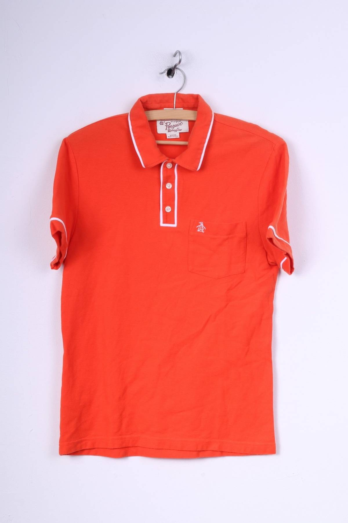 Original Penguin Original Penguin Mens M S Polo Shirt Orange