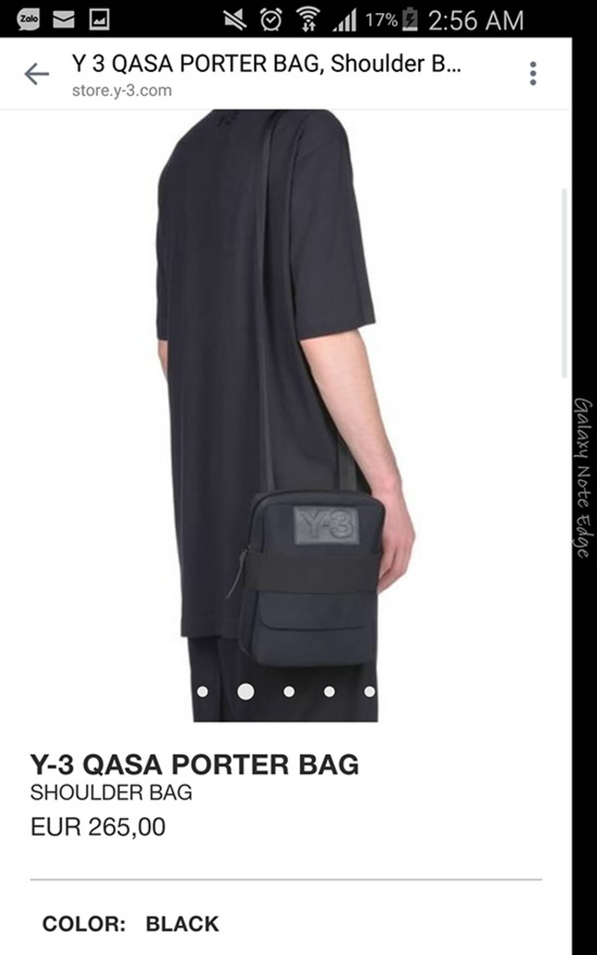 5db9b2fbf Y-3 BRAND NEW Y-3 QASA YOHJI YAMAMOTO Y3 PORTER SHOULDER BAG RETAIL 265€ SPRING  SUMMER 2017 Size one size - Bags   Luggage for Sale - Grailed