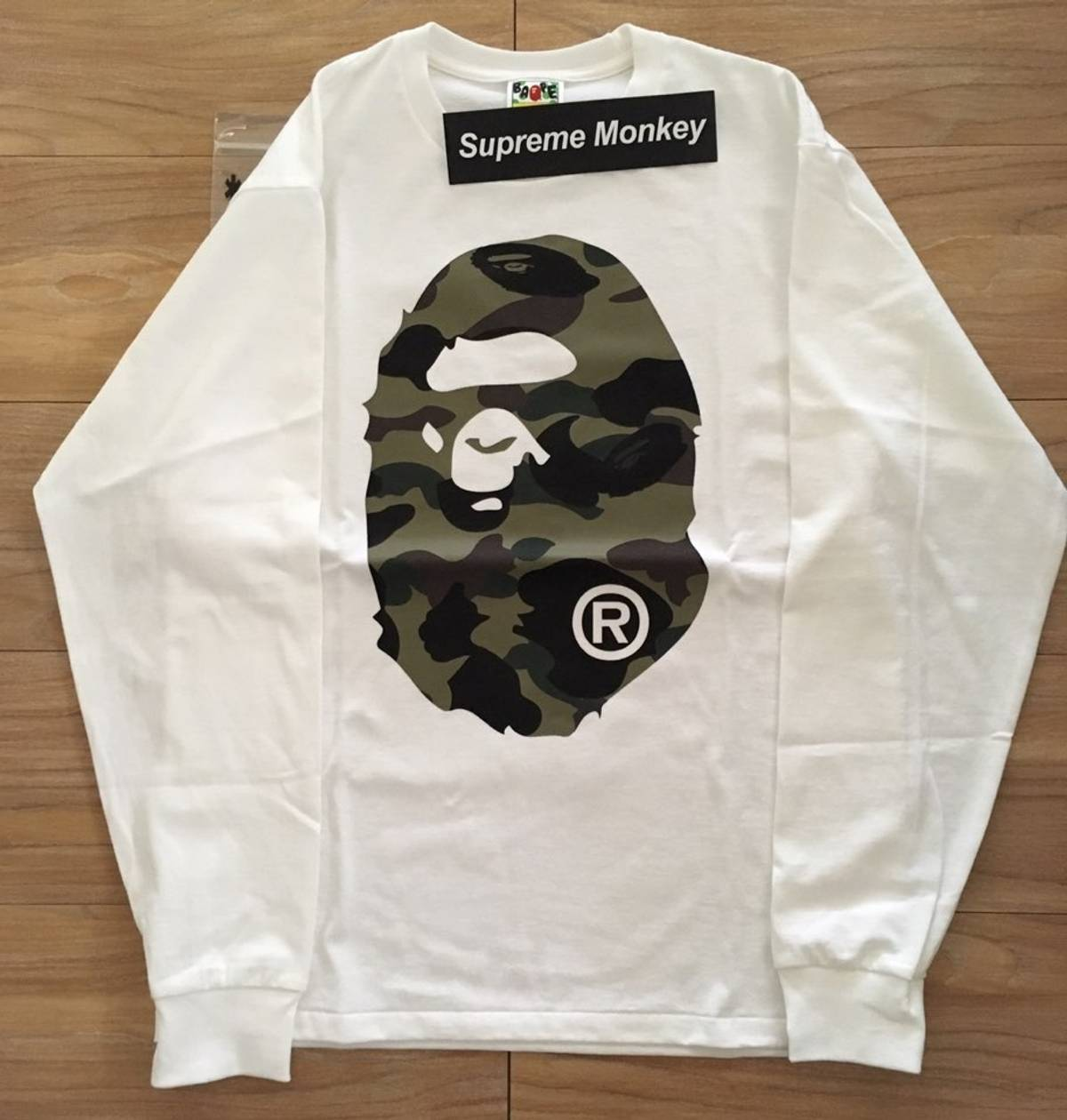 9e4ebef13 Bape 1st Camo Big Ape Head Long Sleeve Tee | Grailed