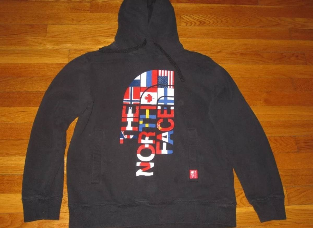 80c1315cddb644 The North Face The North Face Word Flag Logo Men s Medium Size m ...