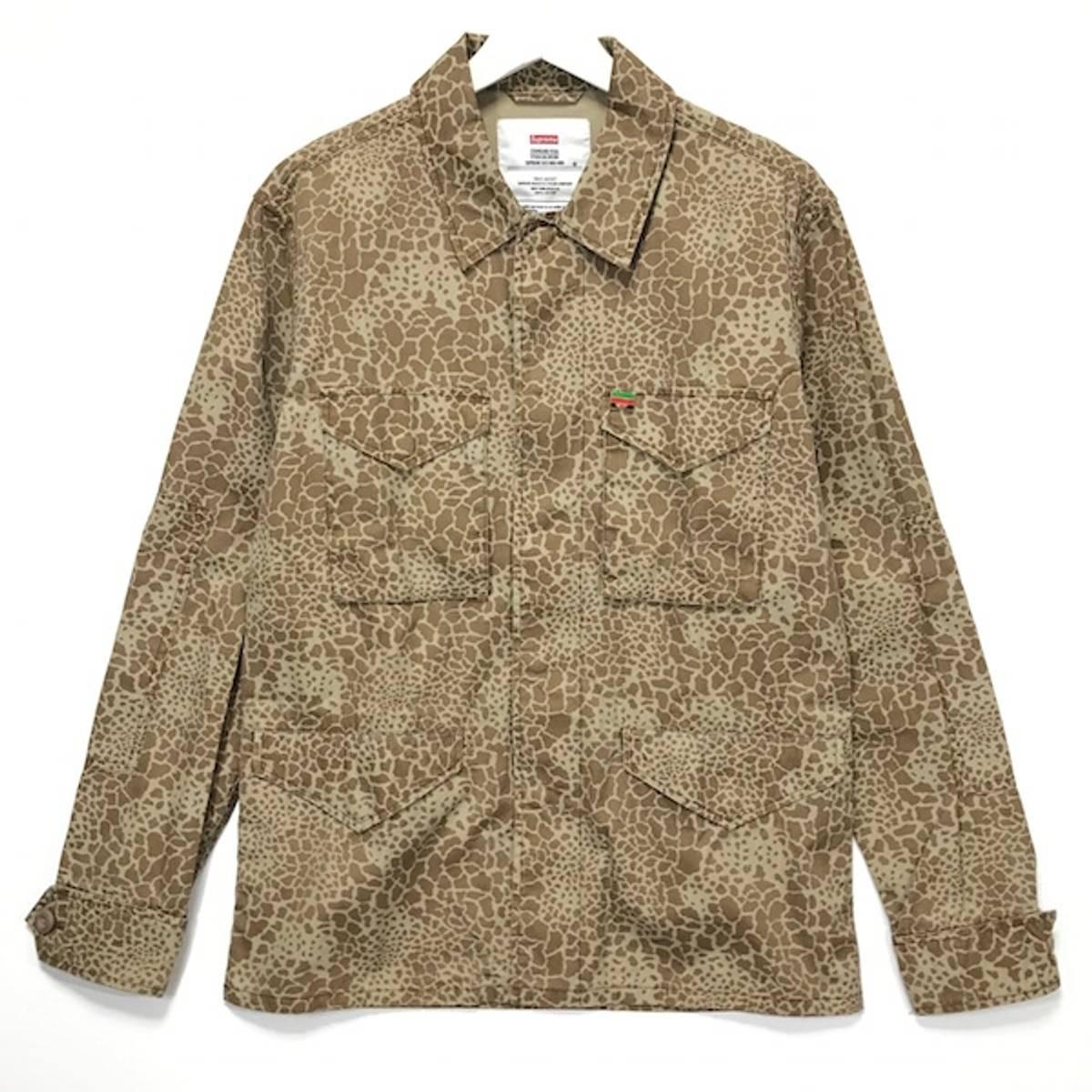 Supreme [s] Supreme Giraffe Camo Field Jacket Beige | Grailed