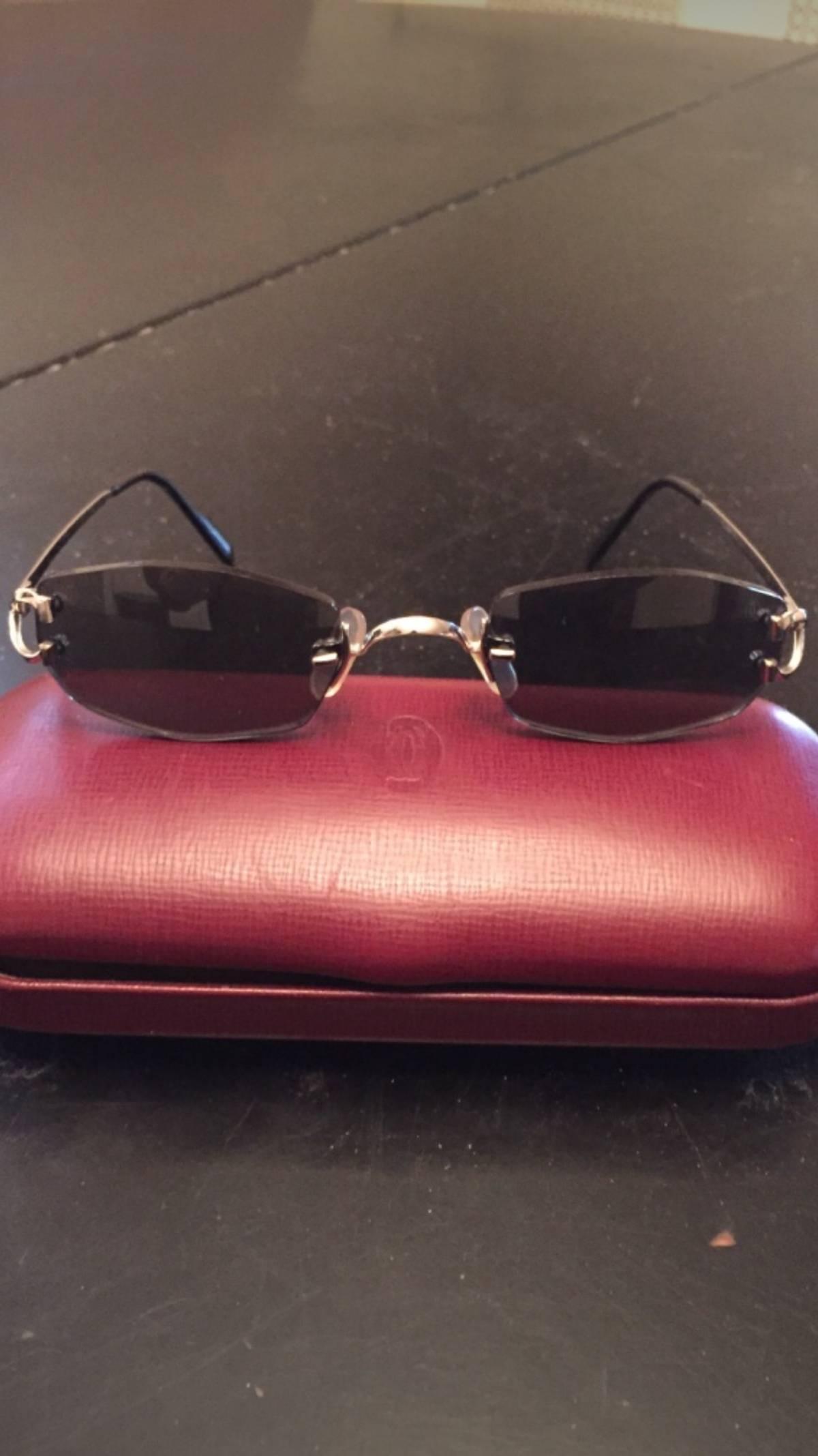 12497322dd Cartier. Cartier Madison C Decor Platinum Plated Sunglasses. Size  ONE SIZE
