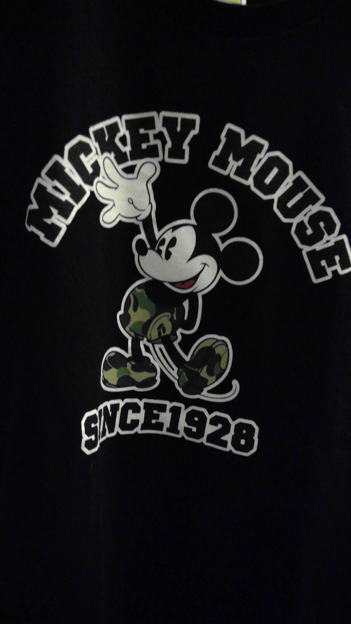 c02cf849 Bape Mickey Mouse Black Bape X Disney T-shirt | Grailed