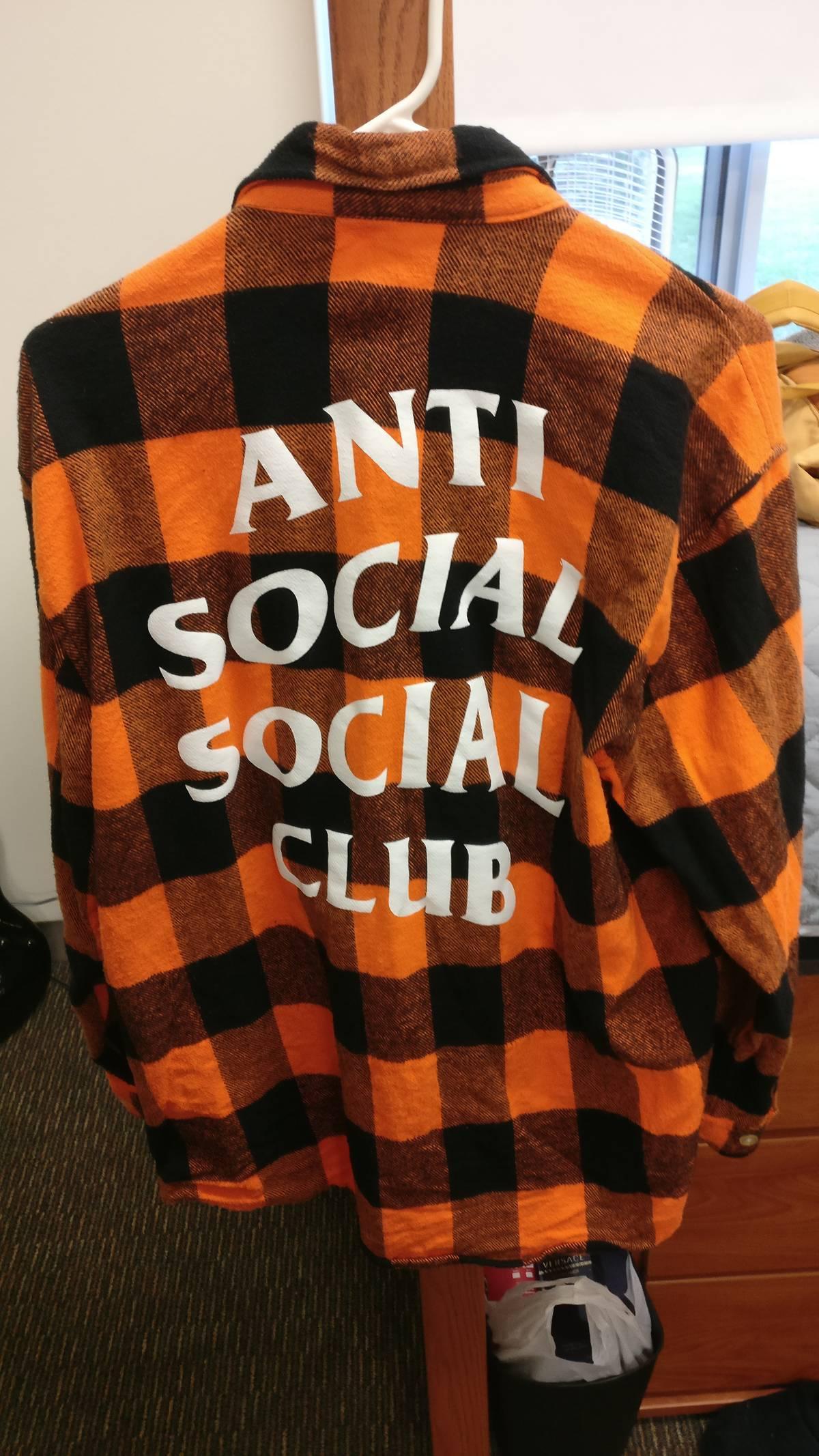 614ea5621c74 Antisocial Social Club Assc Orange black Flannel