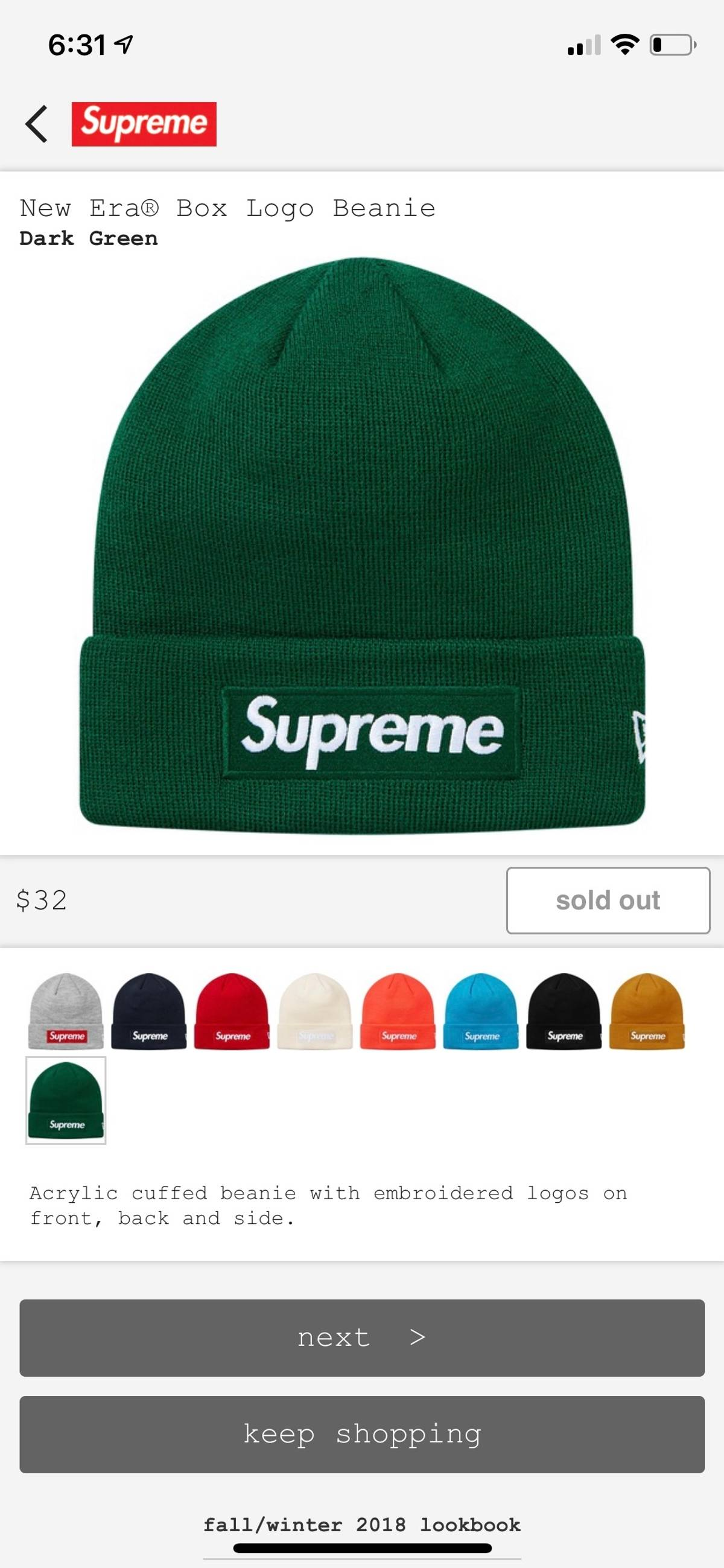 c74b37972f3 Supreme Supreme Box Logo Beanie Green Size one size - Hats for Sale -  Grailed