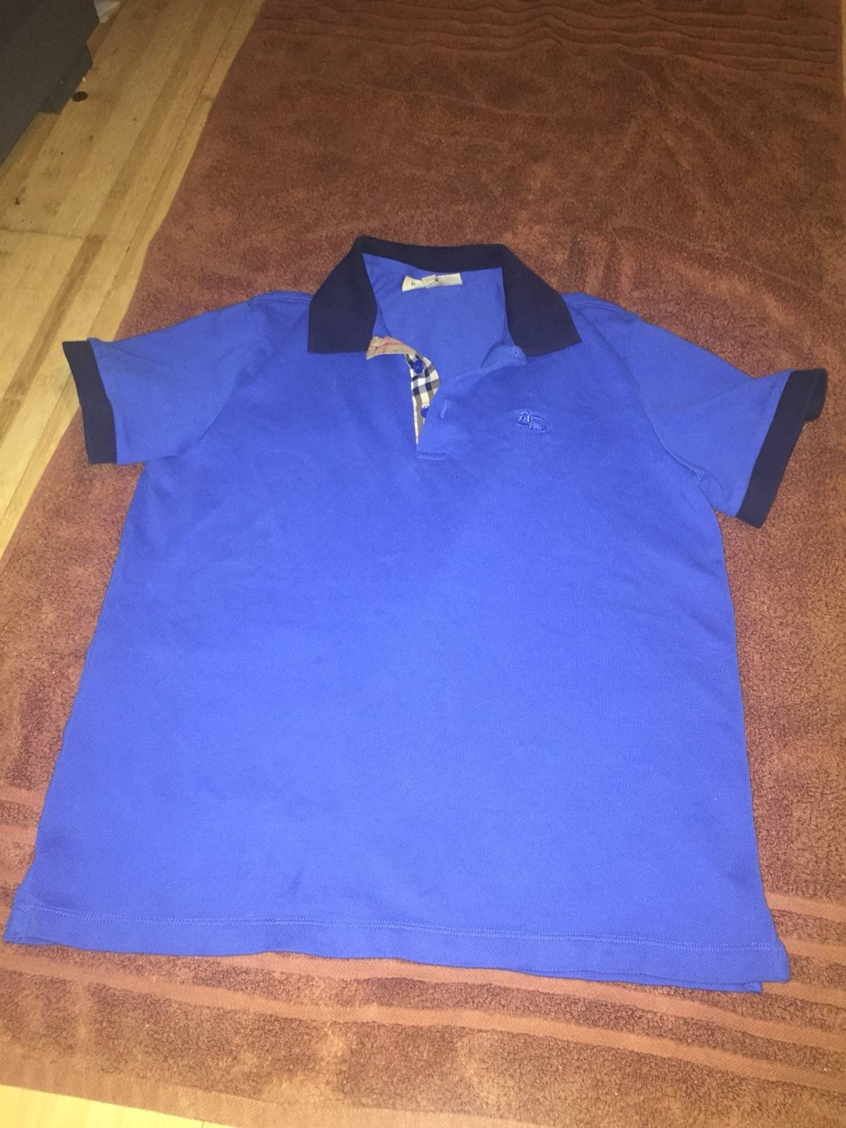 Burberry Burberry Blue Polo Size L Polos For Sale Grailed