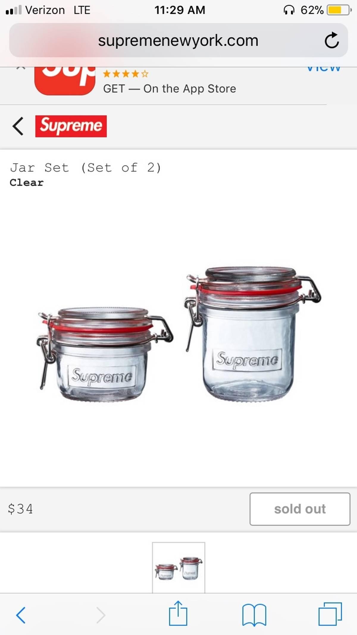 Supreme Jar Set (Set Of 2) Size One Size $90
