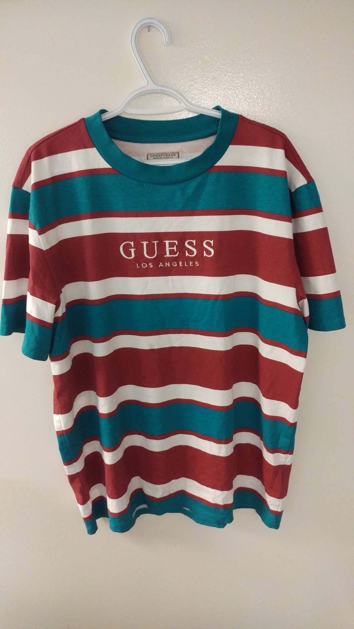 acb9ef0c1517 Guess Guess Originals '81 Oversized Peer Striped Tee   Grailed