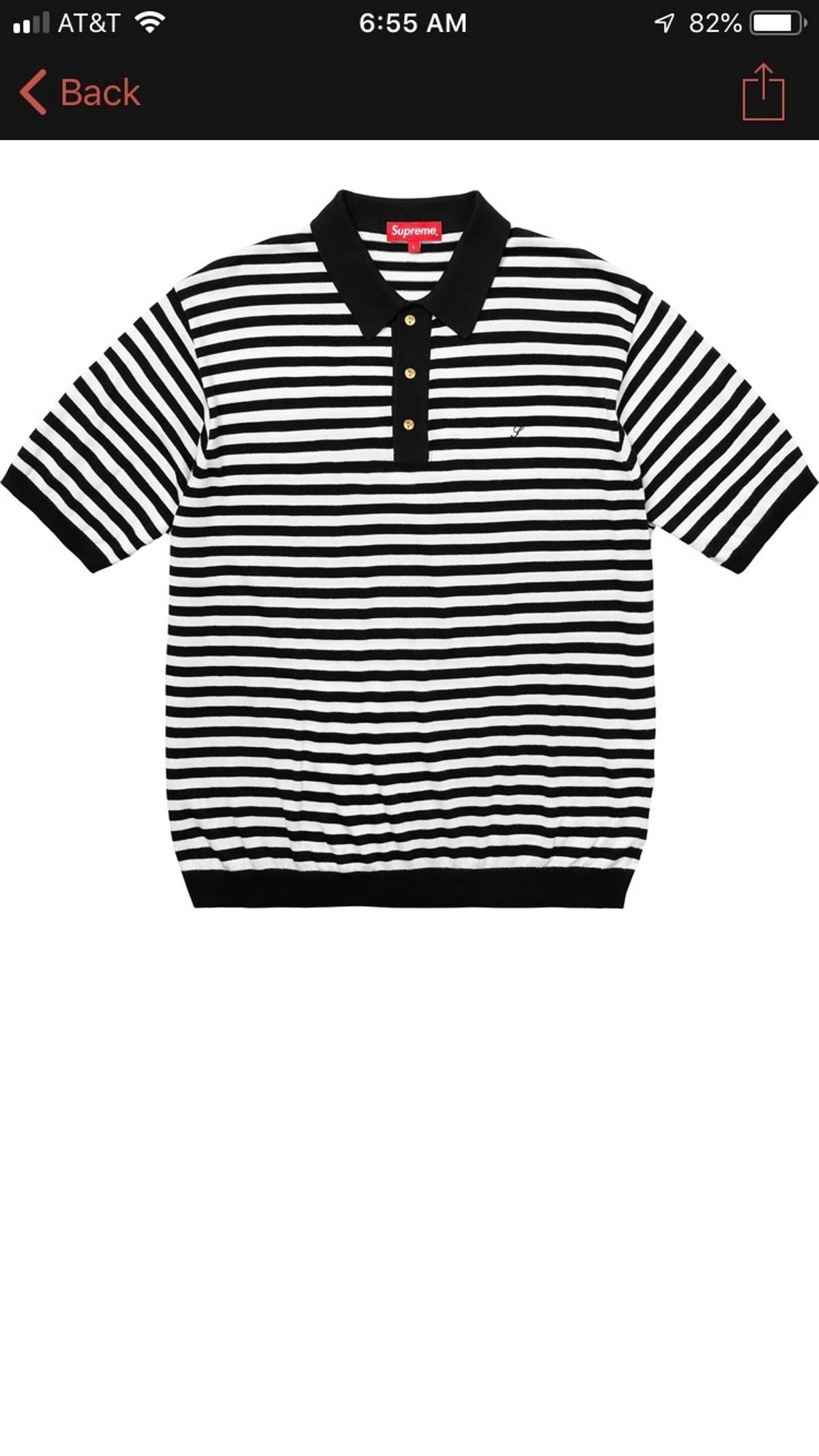 3fedc1b36e Supreme Striped Knit Polo | Grailed