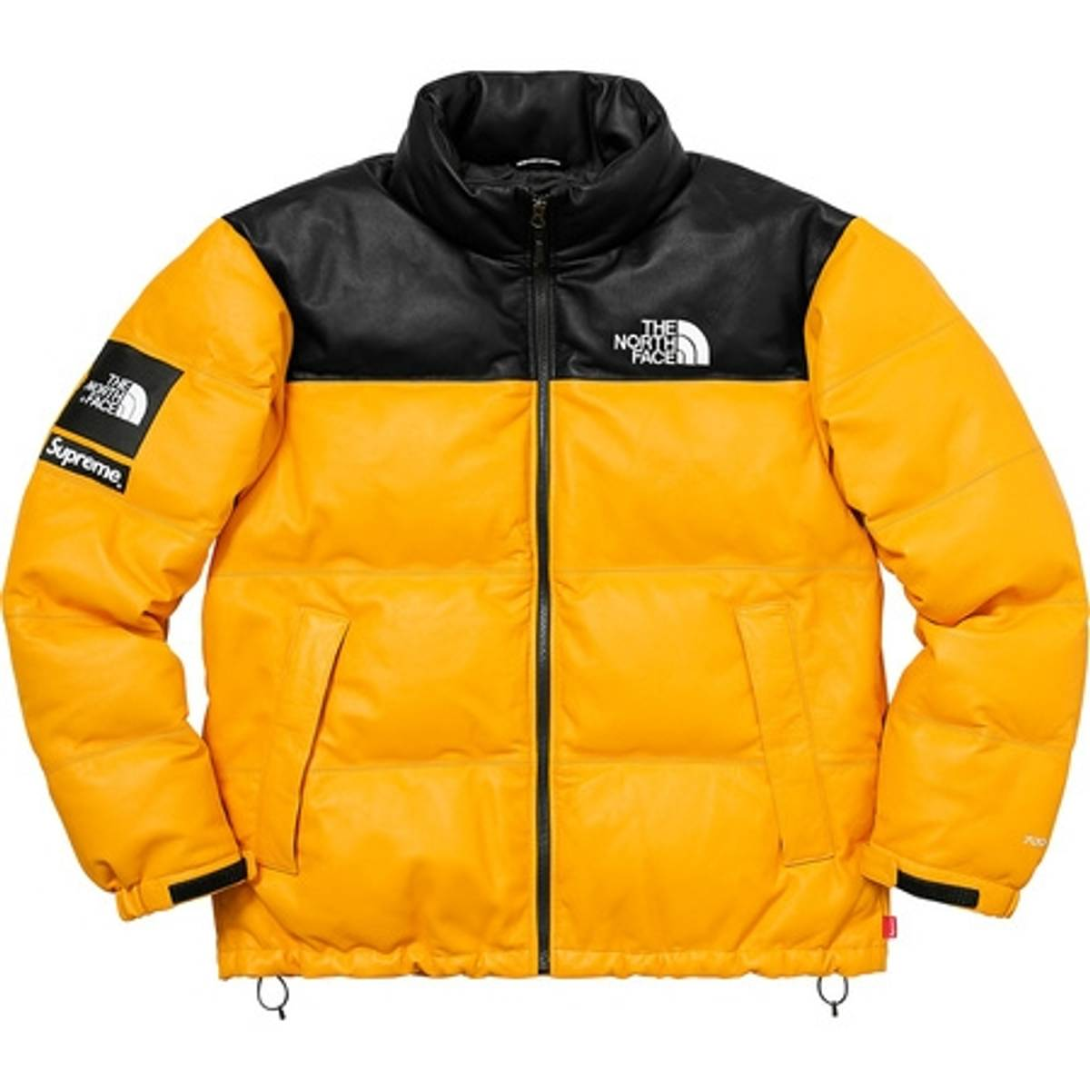 Supreme Supreme The North Face Leather Nuptse Jacket Yellow Size m - Leather  Jackets for Sale - Grailed 691dbeb6a