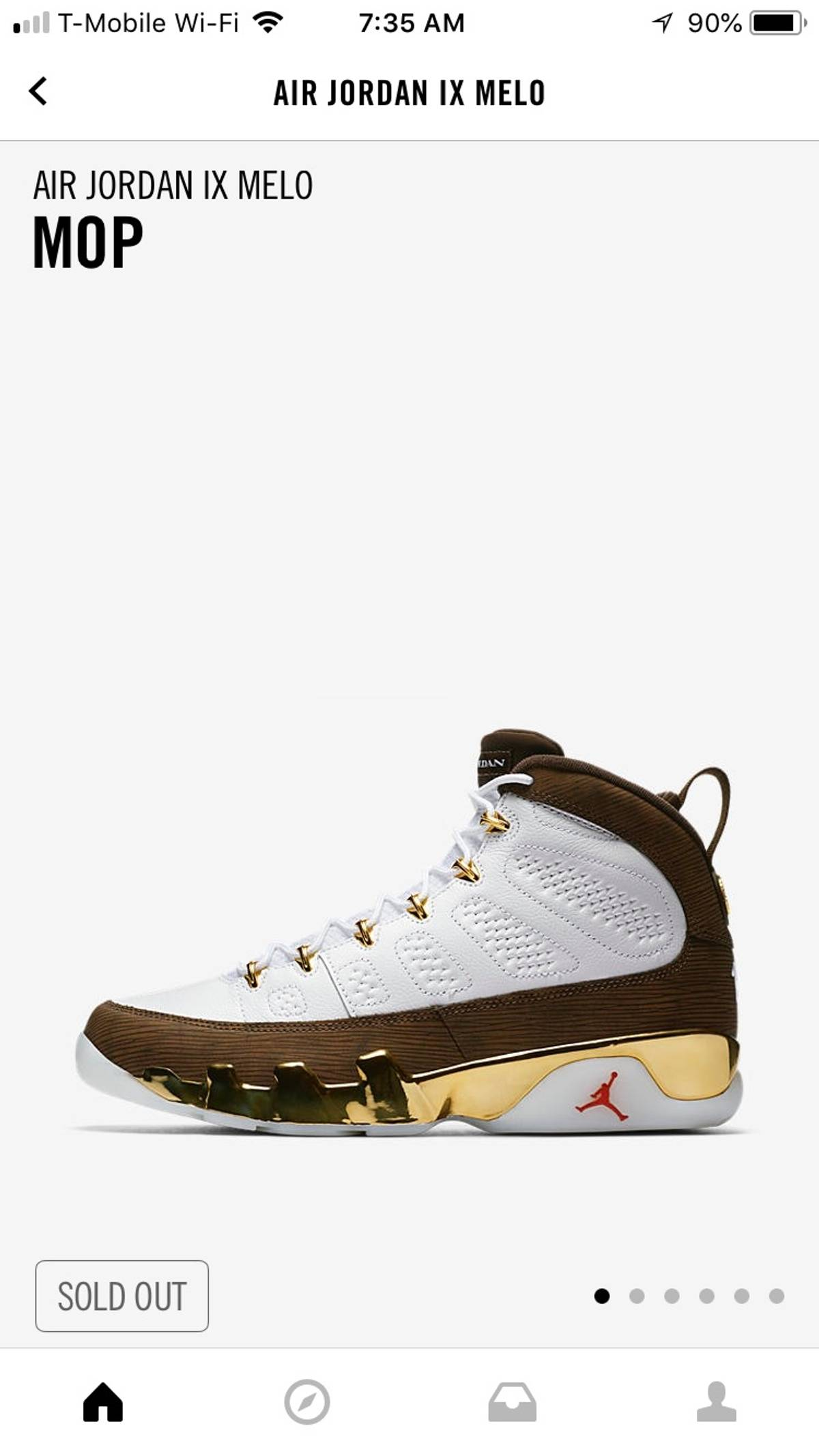 c8be08c6390 Jordan Brand ×. JORDAN IX MOP MELO. Size: US 9.5 / EU 42-43