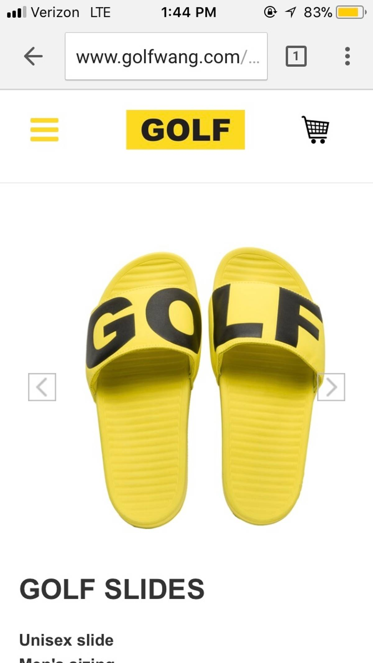 0d3367ffedee Golf Wang Yellow Golf Slides Size 10 Size 10 - Slip Ons for Sale ...