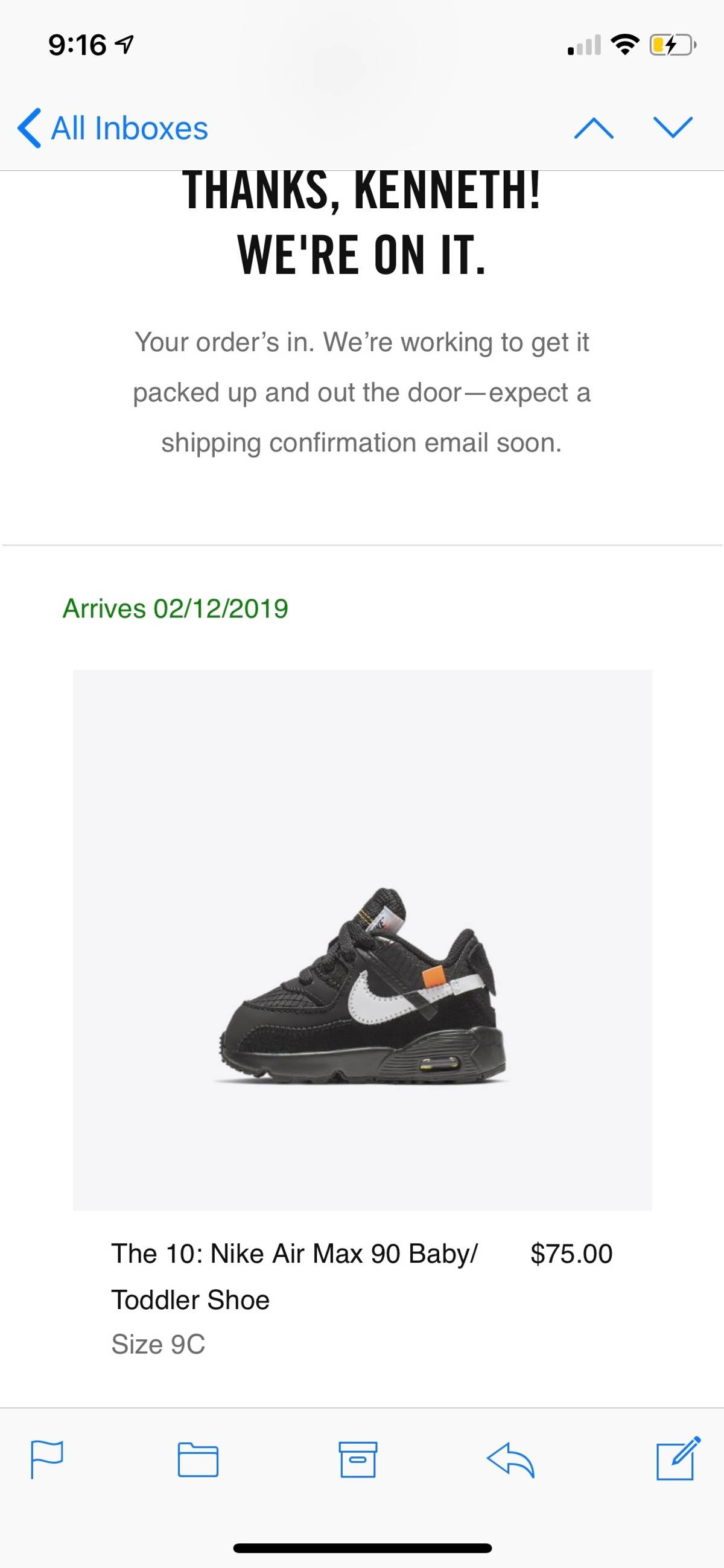 brand new d6179 d1651 Nike × Off-White ×. The 10  Nike Air Max 90 Baby Toddler