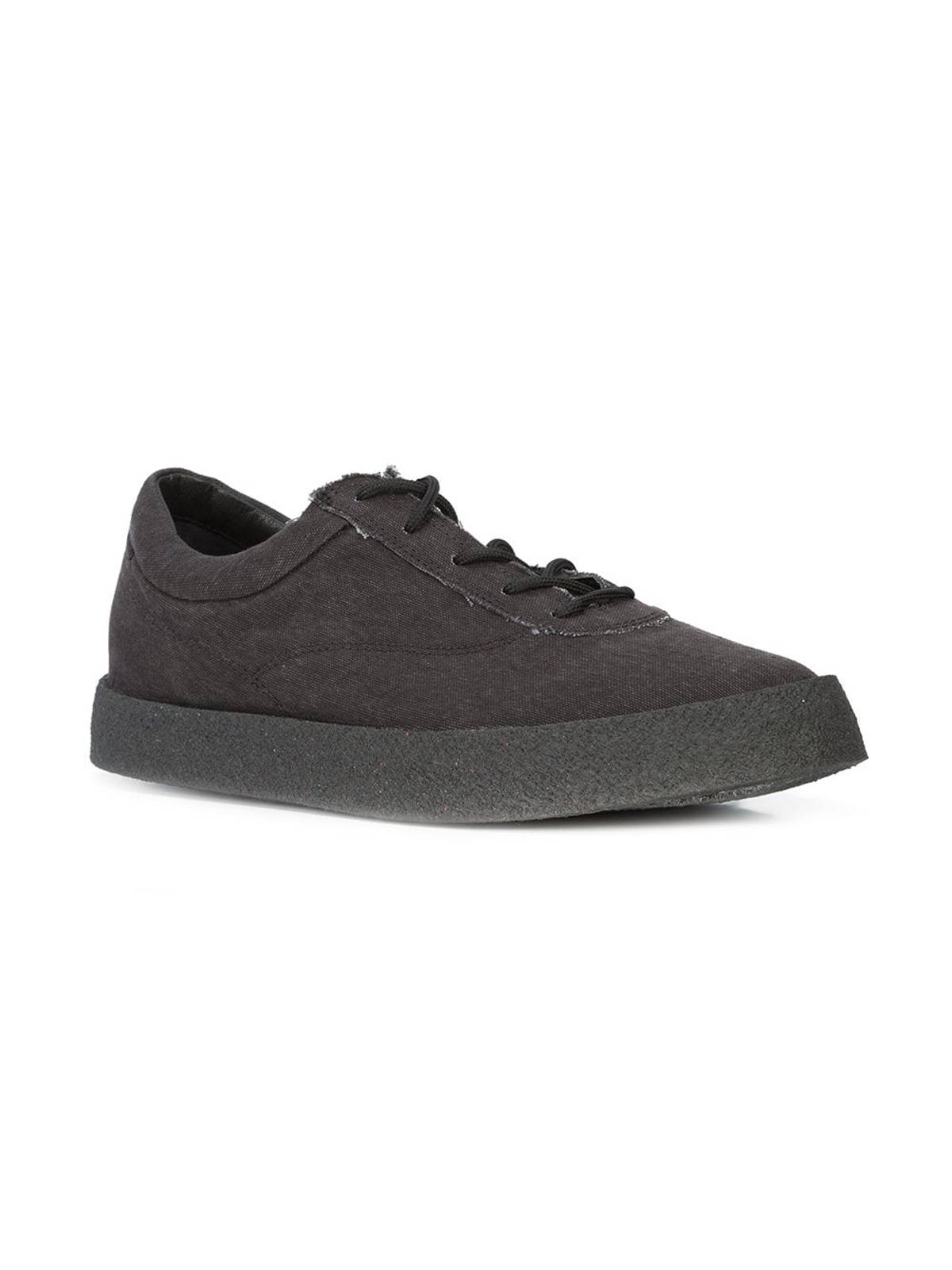 28334790416 Yeezy Season Season6 Yeezy Graphite Washed Canvas Crepe Sneakers ...
