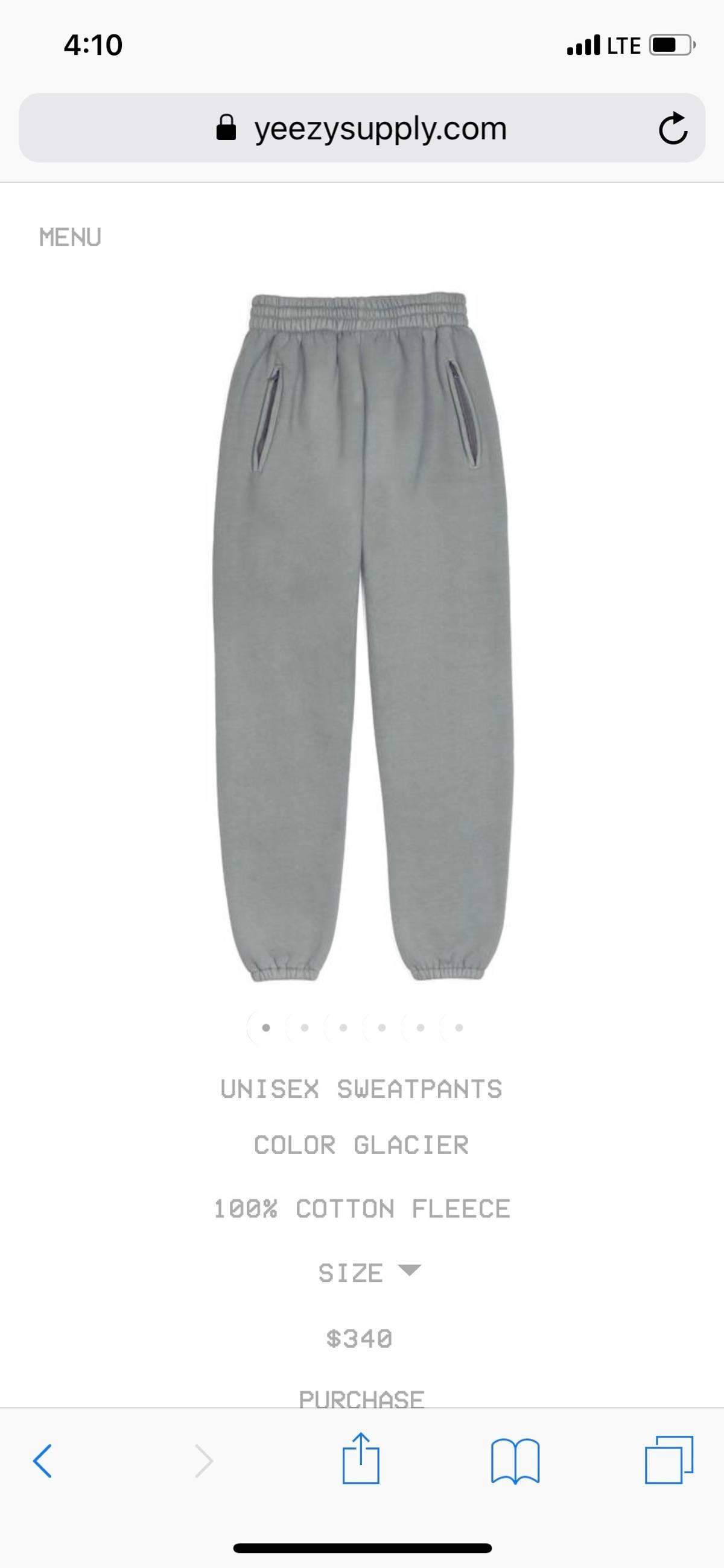00522a233 Yeezy Season ×. Yeezy - Season 6 Glacier Pants. Size  US 30   EU 46