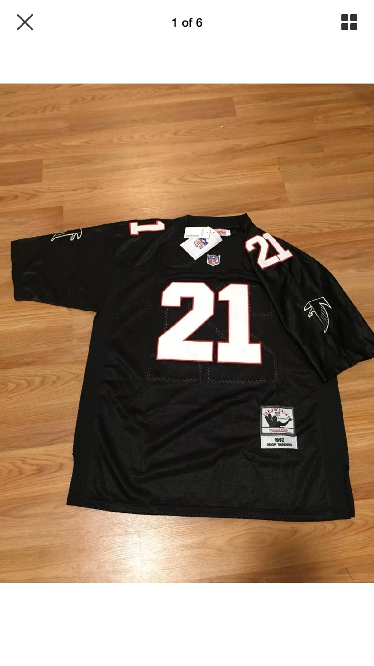 finest selection 7cff0 6c064 Mitchell & Ness × Nfl Deion Sanders Size L $126