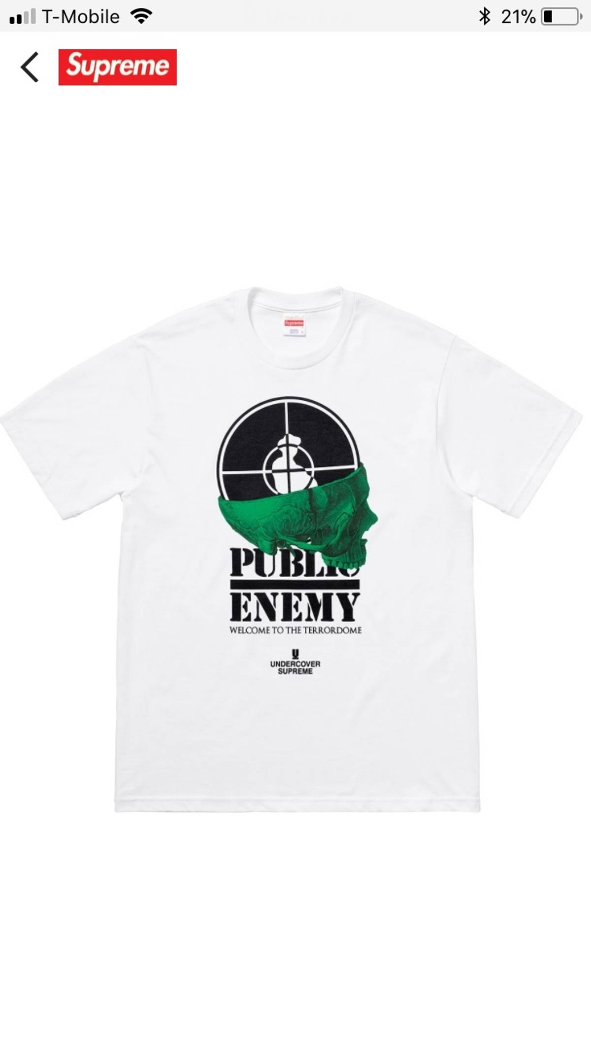 bc8b1613 Supreme Supreme X Undercover X Public Enemy Tee   Grailed