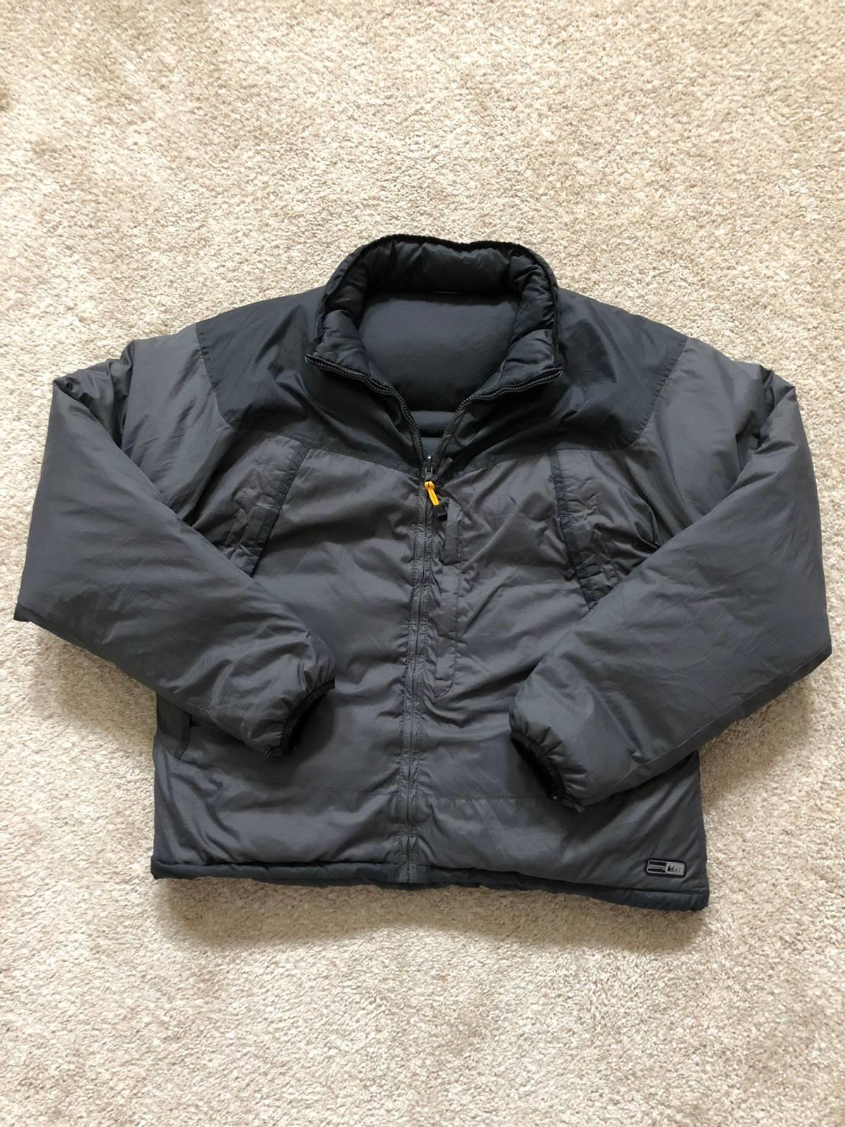 05327e927 Rei Reversible Grey Down Puffer Jacket Size L $45