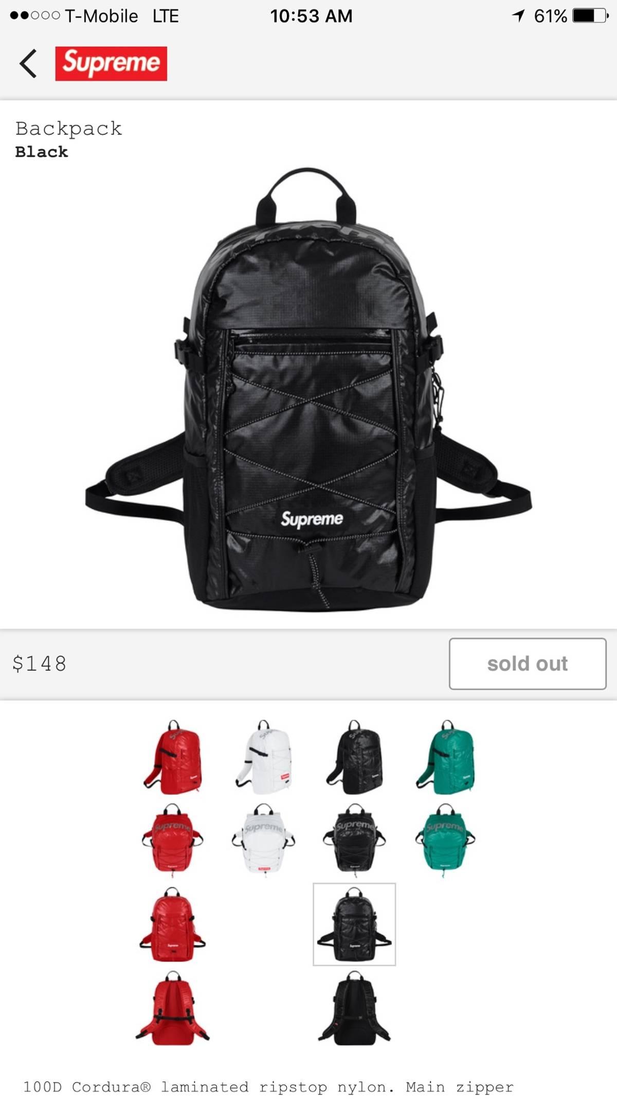 Supreme Supreme Fw17 Cordura Backpack | Grailed