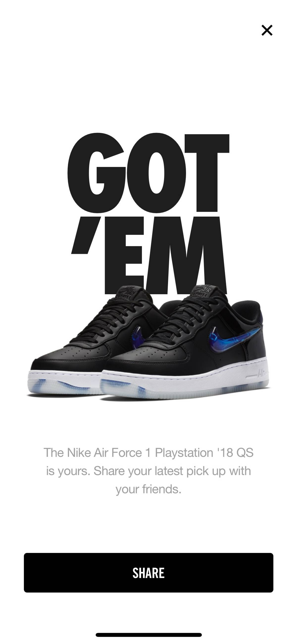 814c72470d2 Nike. 2018 Nike Air Force 1 Low QS PLAYSTATION E3 EXCLUSIVE Sz 9 ...