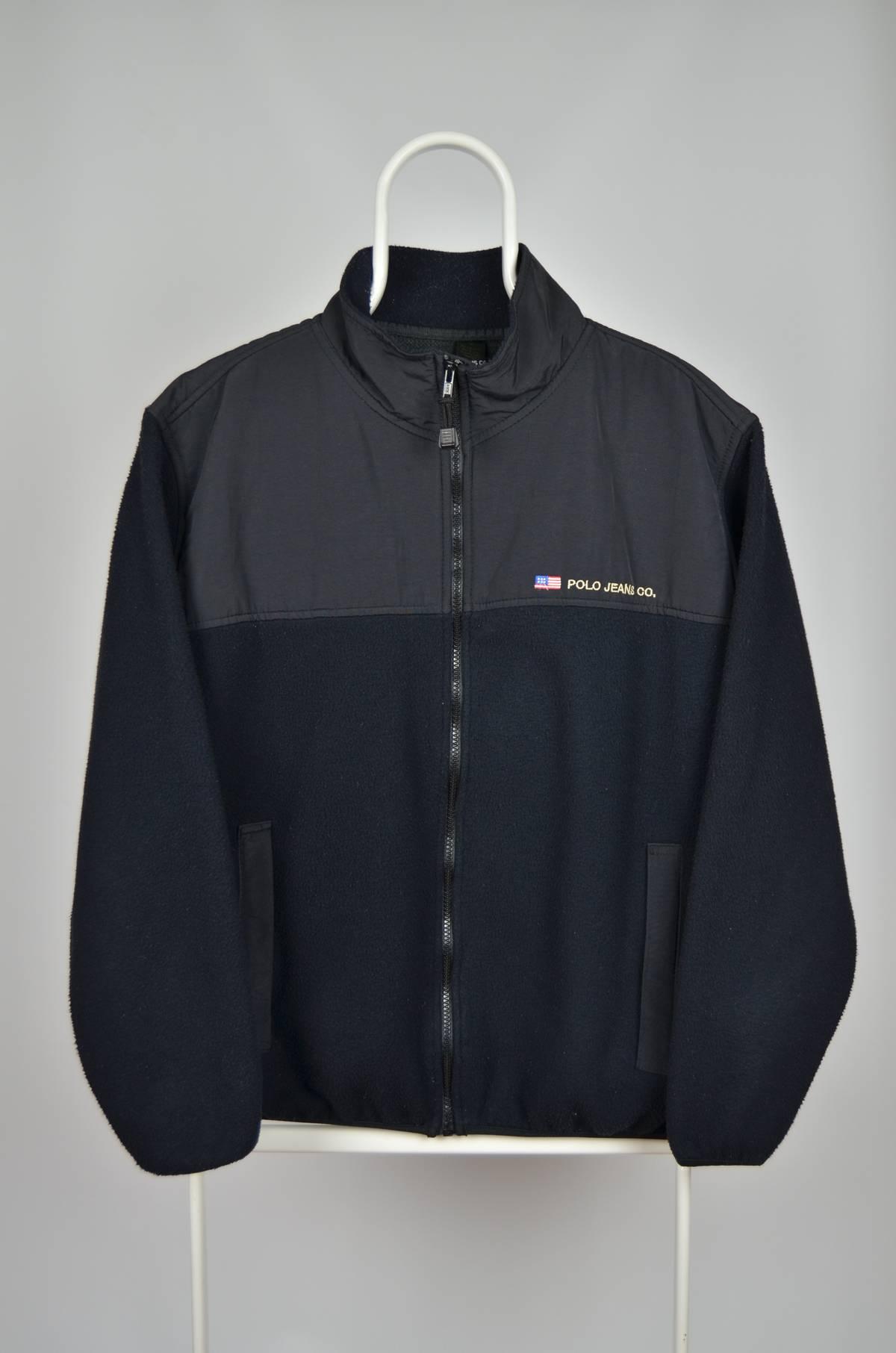 e5409fd2f Polo Ralph Lauren × Ralph Lauren (Lrl) Lauren Jeans Co. × Vintage Polo Jean  Co Ralph Lauren Polo Sport Vintage Retro 80s 90s Black Fleece Full Zip ...