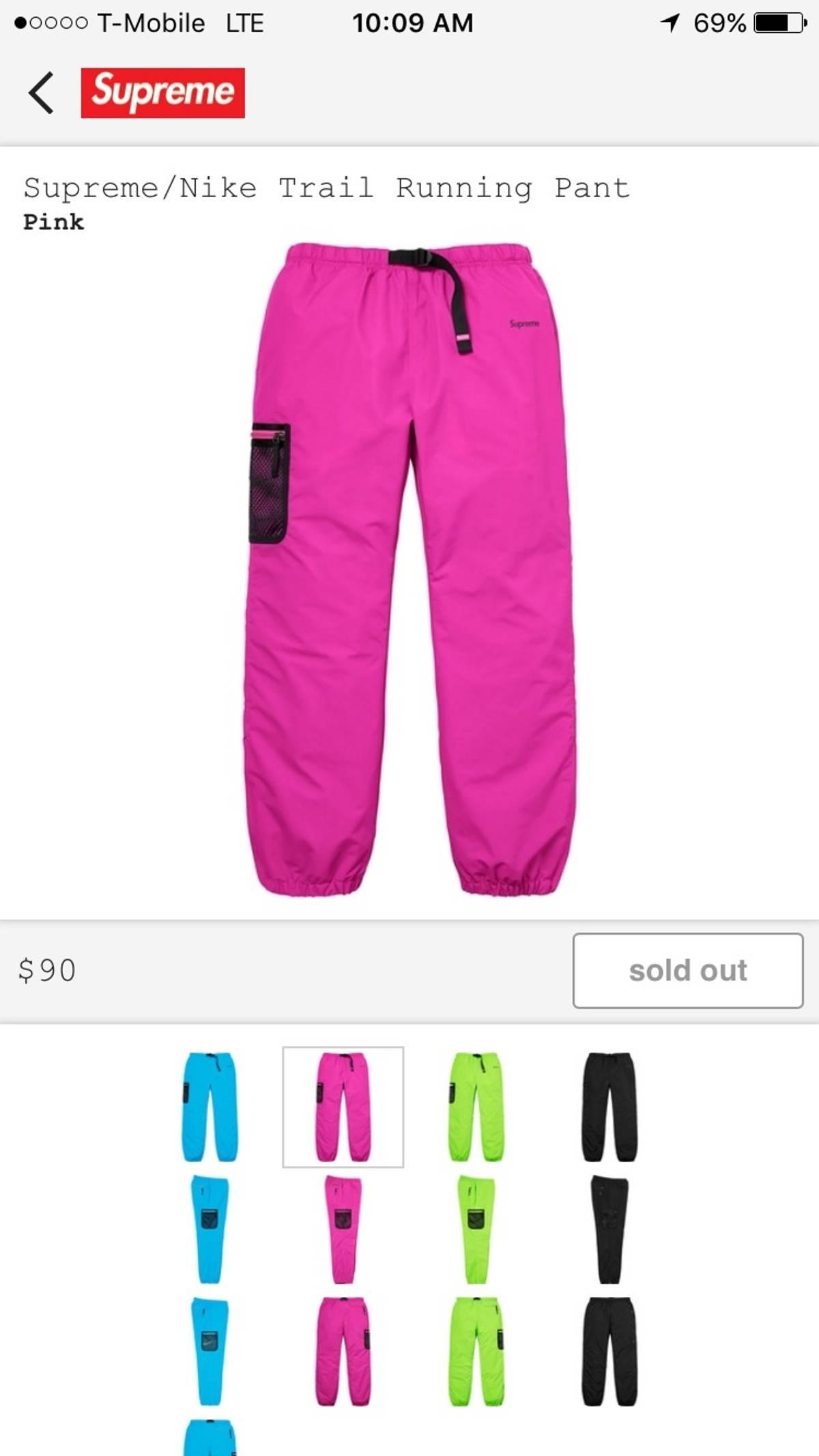 cc091fda8440c ... Supreme Supreme X Nike Humana Track Pants Pink Size 34 - Sweatpants  Joggers for Sale ...