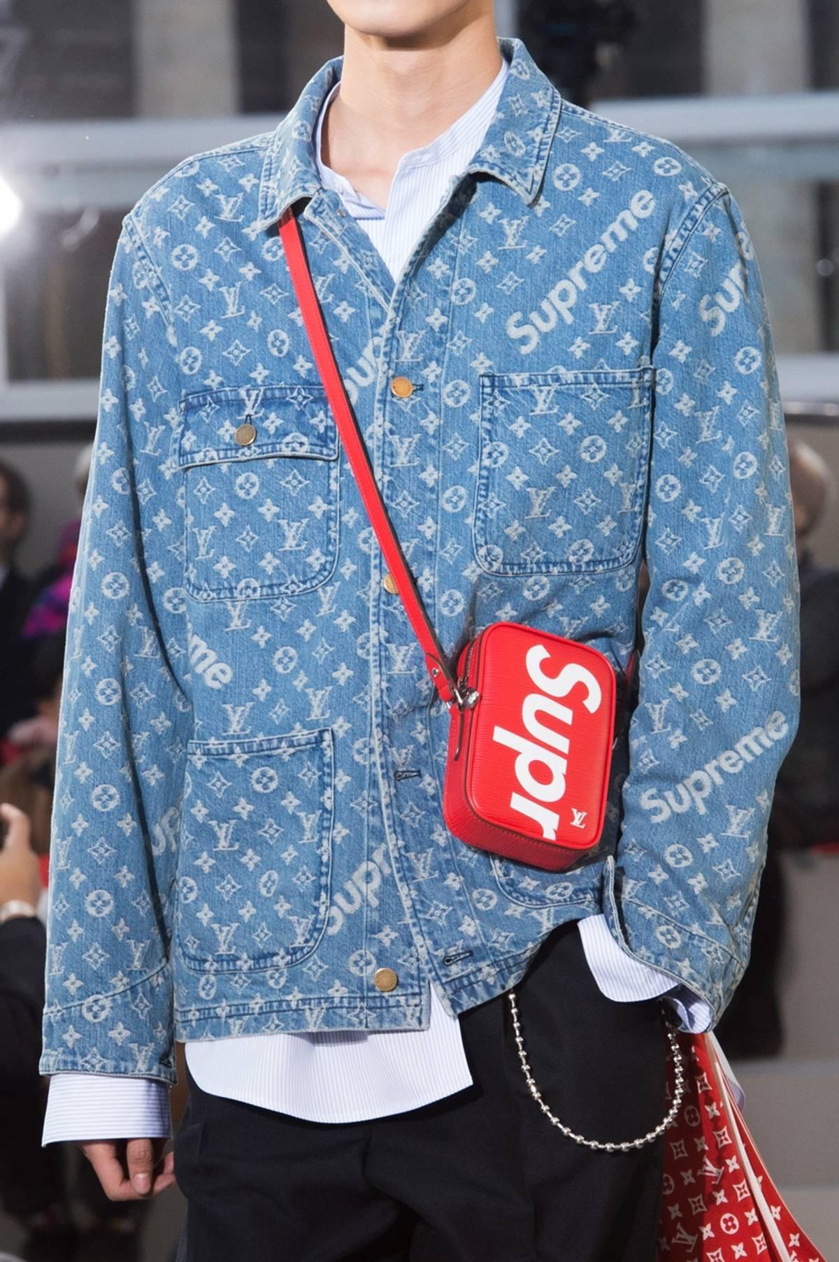 Supreme Louis Vuitton X Washed Denim Barn Jacket