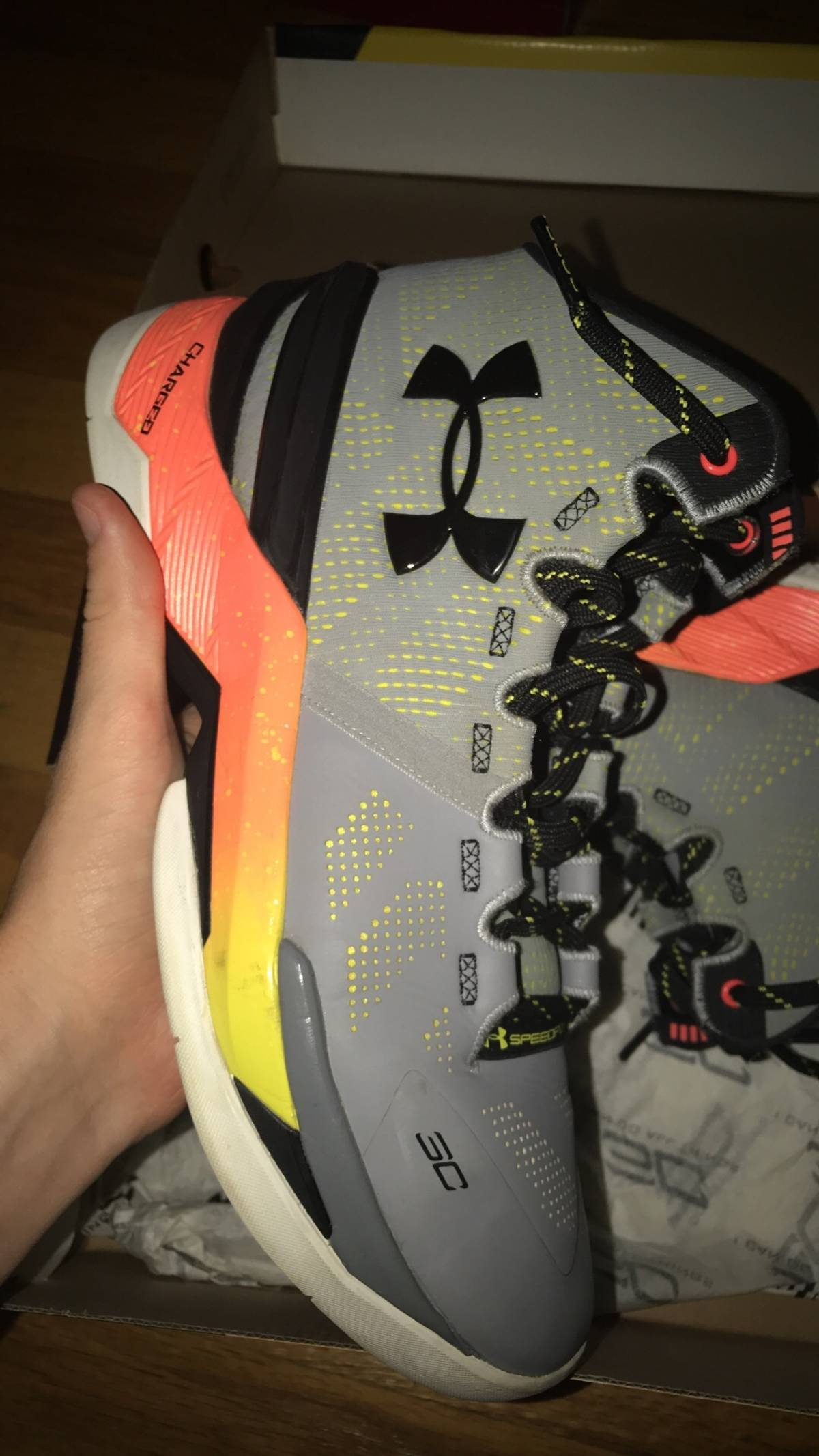 Under Armour Curry 2 Iron Size 8 Size 8 - Low-Top Sneakers for Sale ... e2afb1da63db